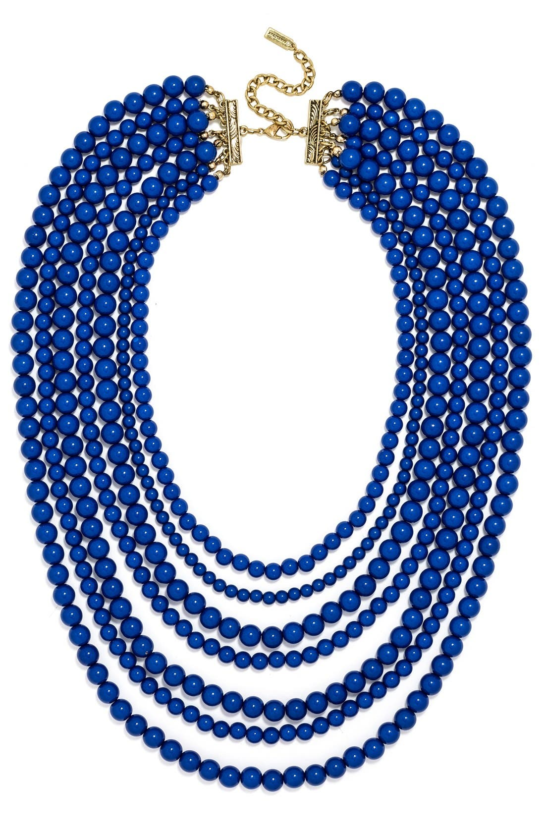 'Bold' Multistrand Beaded Statement Necklace,                             Main thumbnail 7, color,