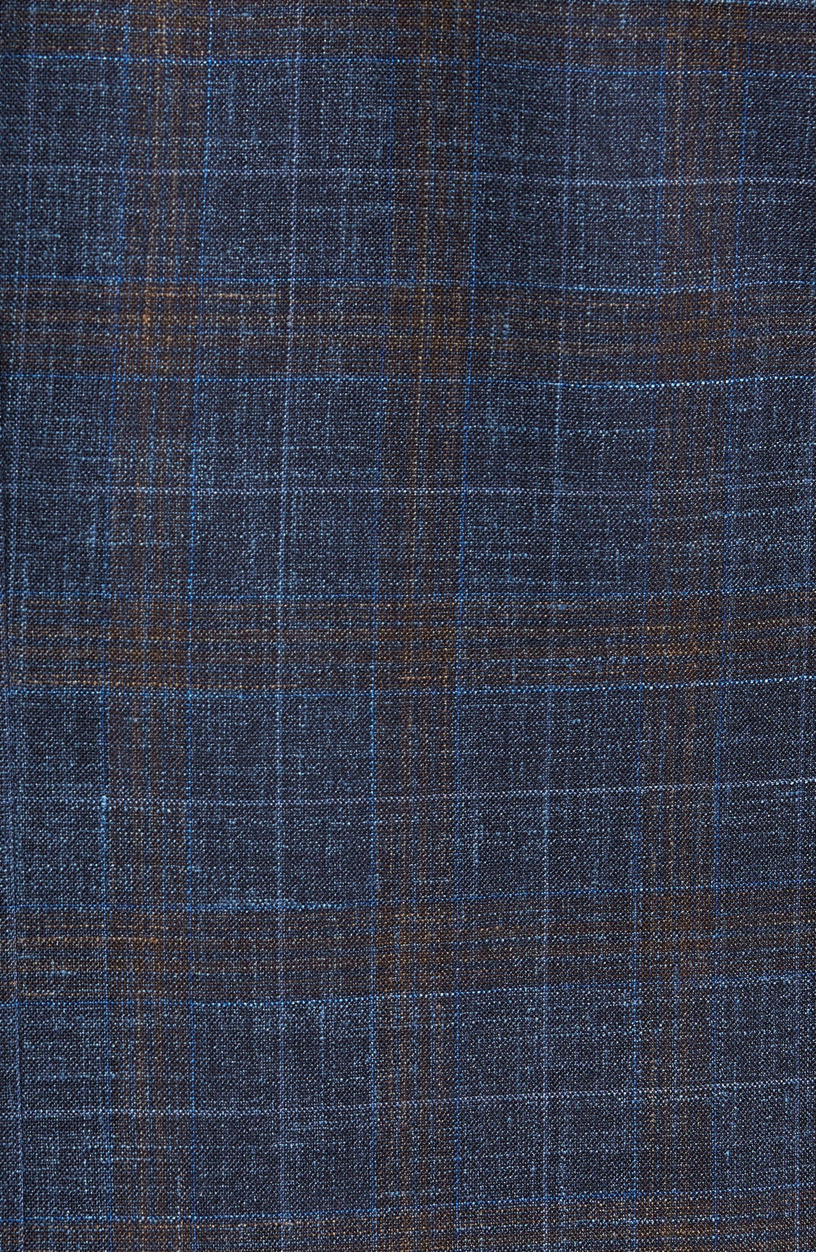 Trim Fit Plaid Wool Blend Sport Coat,                             Alternate thumbnail 6, color,                             410