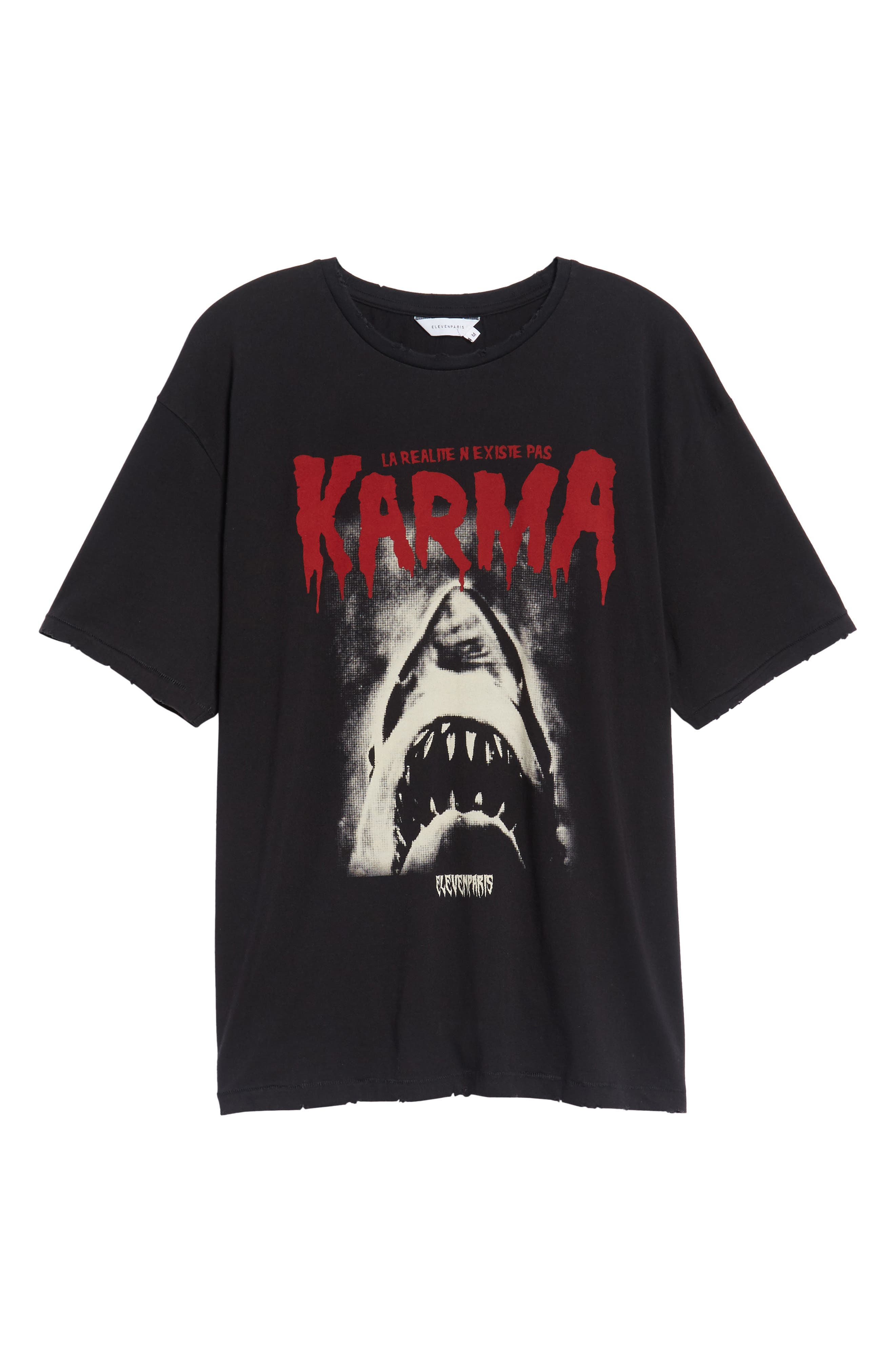 Karma Shark T-Shirt,                             Alternate thumbnail 6, color,                             002