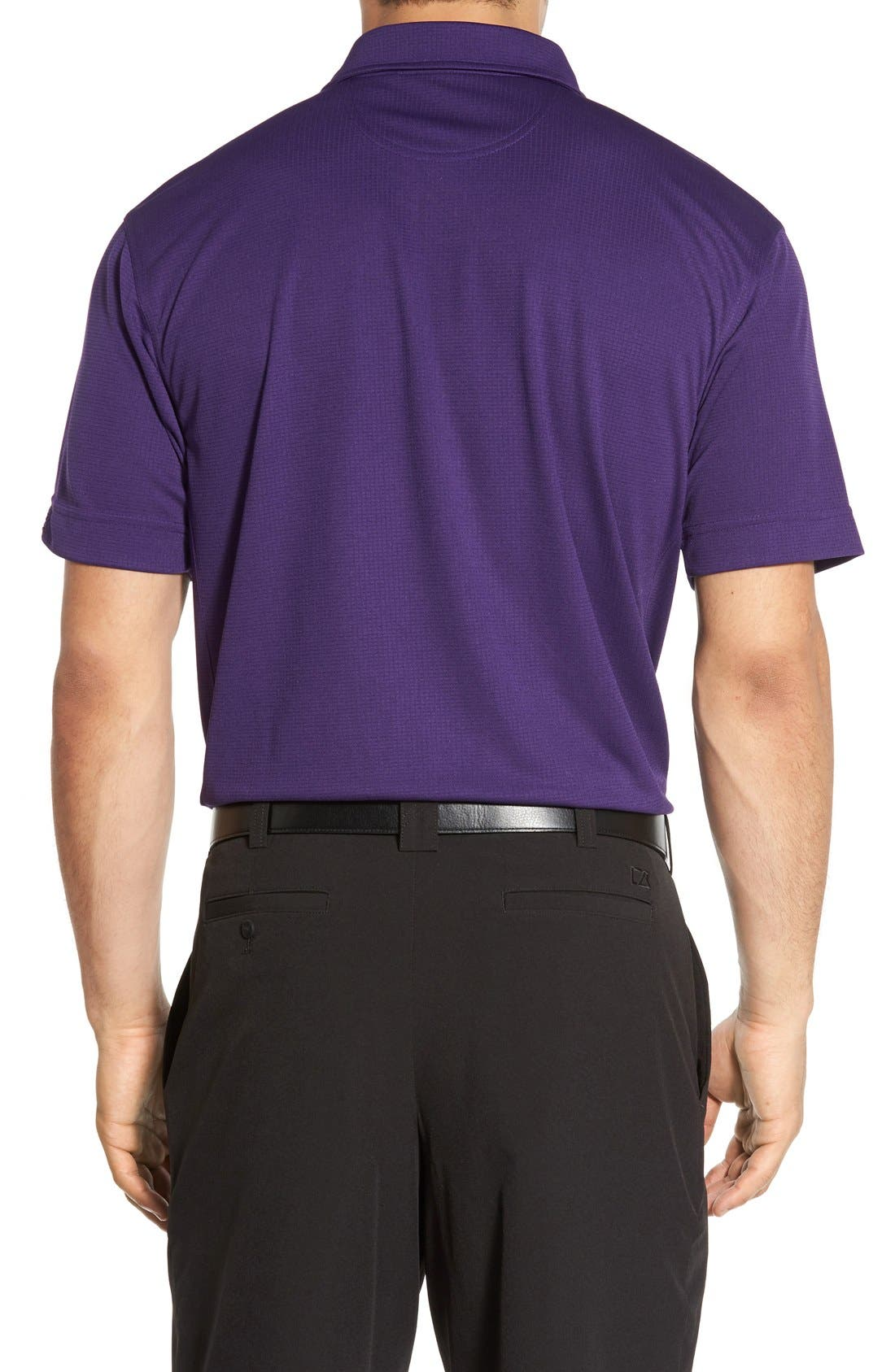 'Genre' DryTec Moisture Wicking Polo,                             Alternate thumbnail 3, color,                             COLLEGE PURPLE