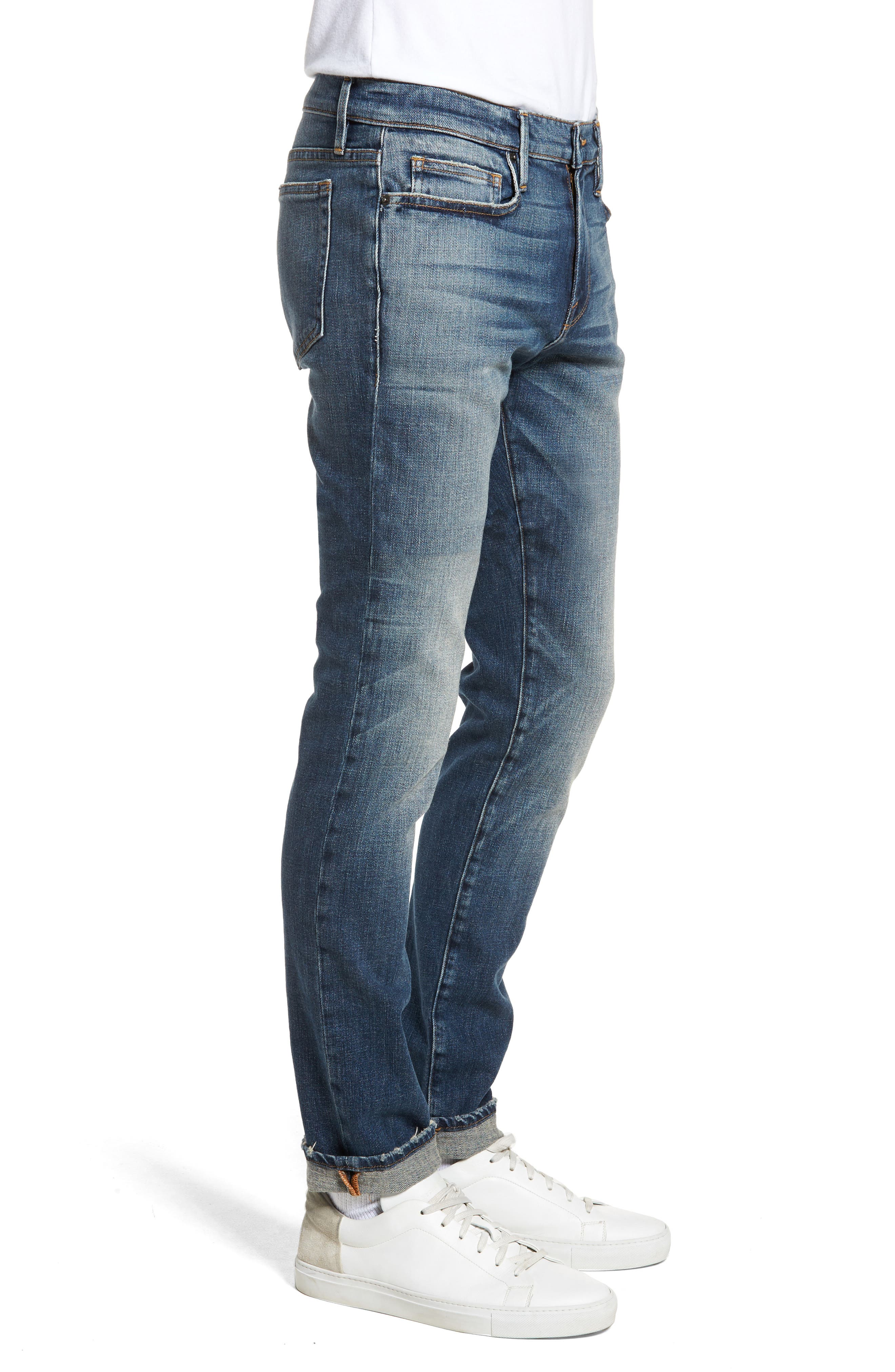 L'Homme Skinny Fit Jeans,                             Alternate thumbnail 3, color,                             405