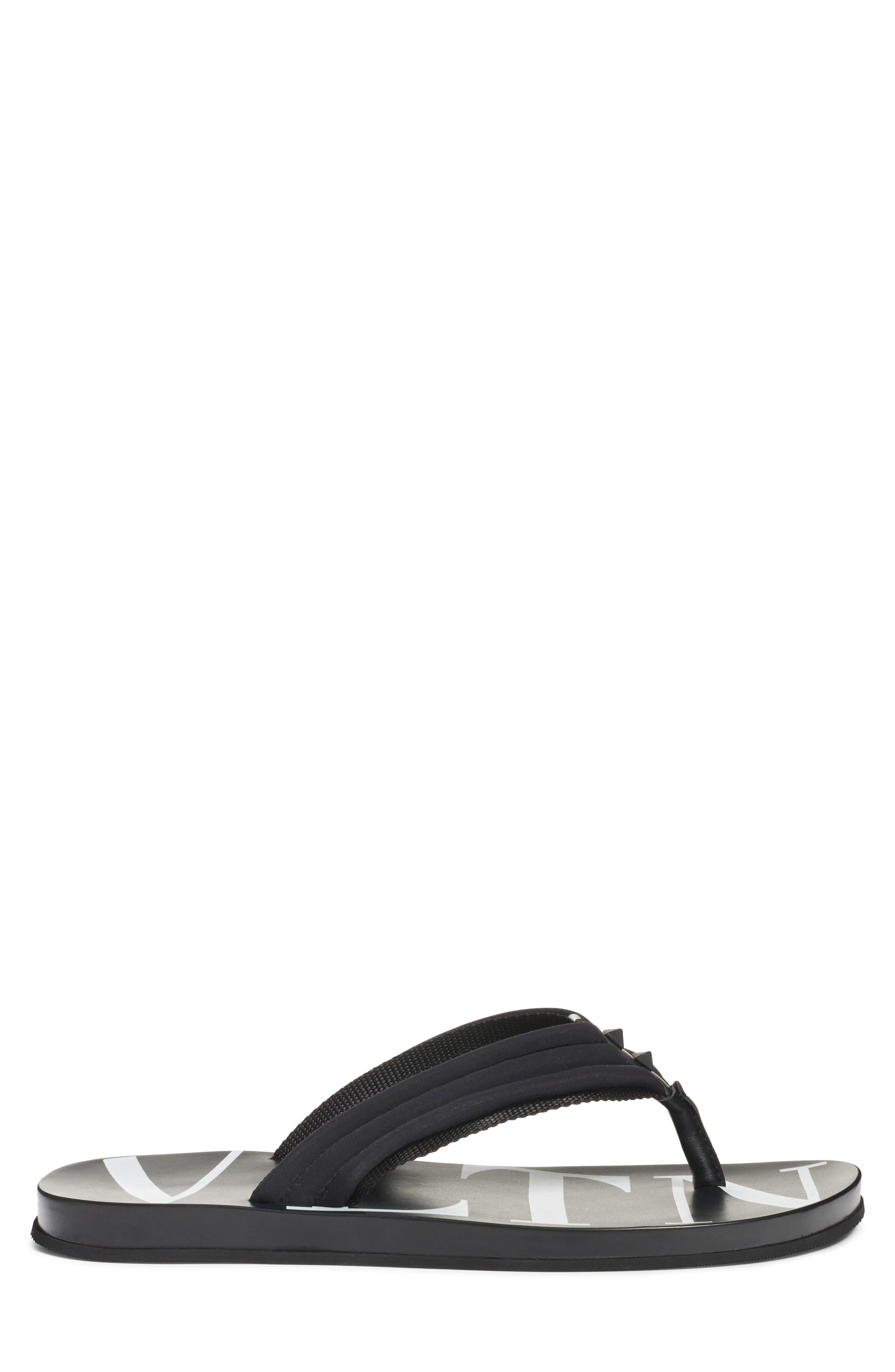 Sandal,                             Alternate thumbnail 3, color,                             BLACK/ WHITE