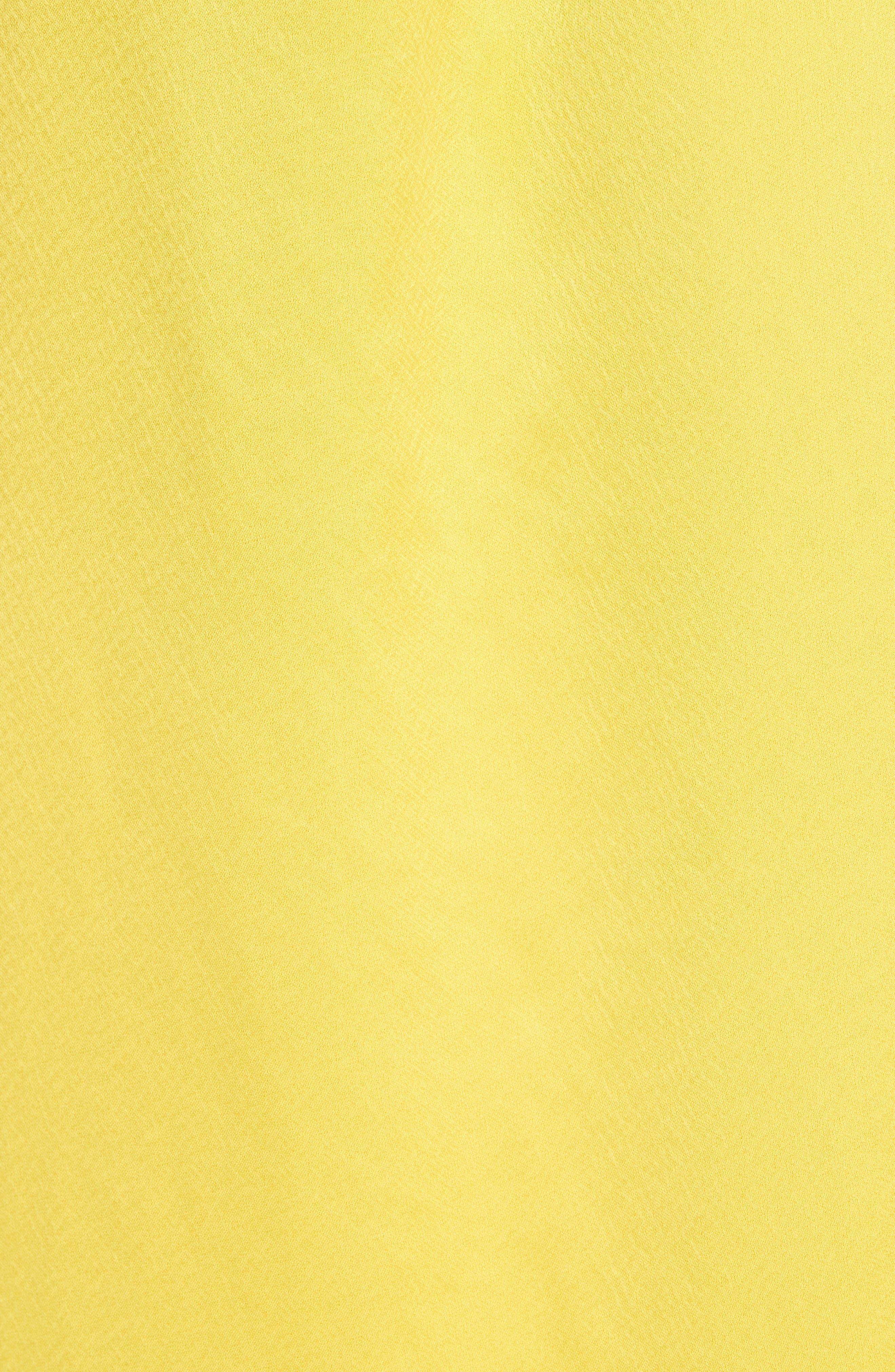 Elsa Slip Dress,                             Alternate thumbnail 5, color,                             YELLOW NO COLOR