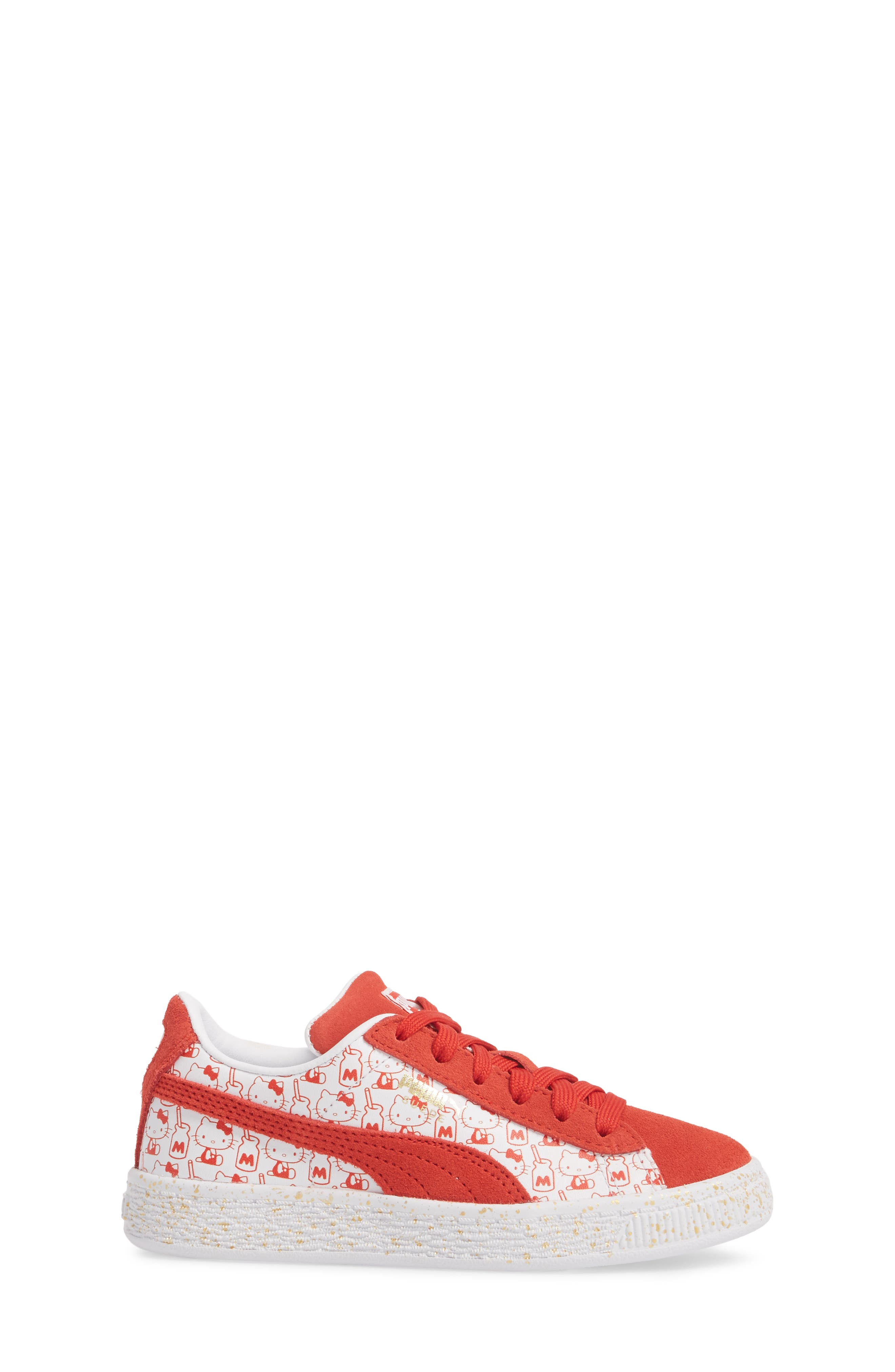 x Hello Kitty Suede Classic Sneaker,                             Alternate thumbnail 3, color,                             600
