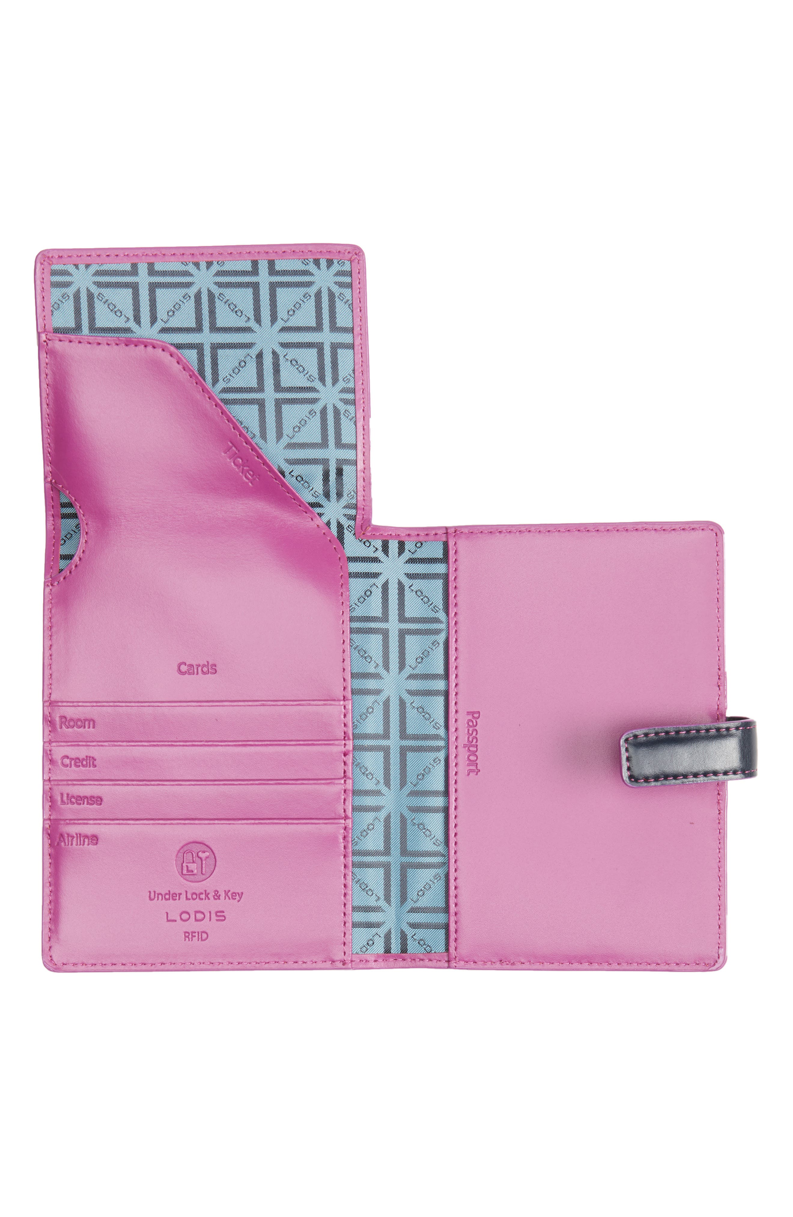 Audrey RFID Leather Passport Wallet,                             Alternate thumbnail 10, color,