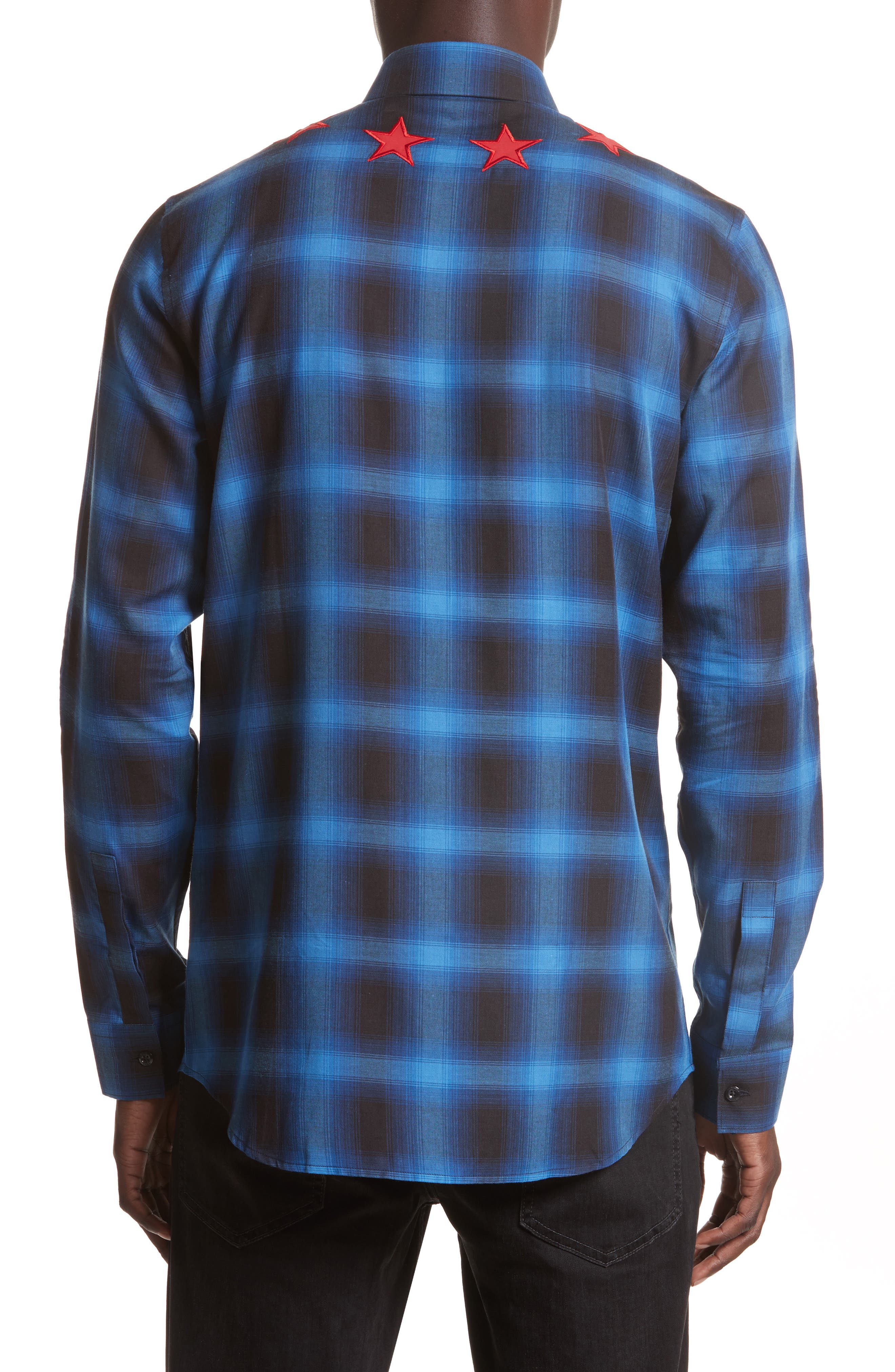 Star Embroidered Plaid Shirt,                             Alternate thumbnail 3, color,                             410