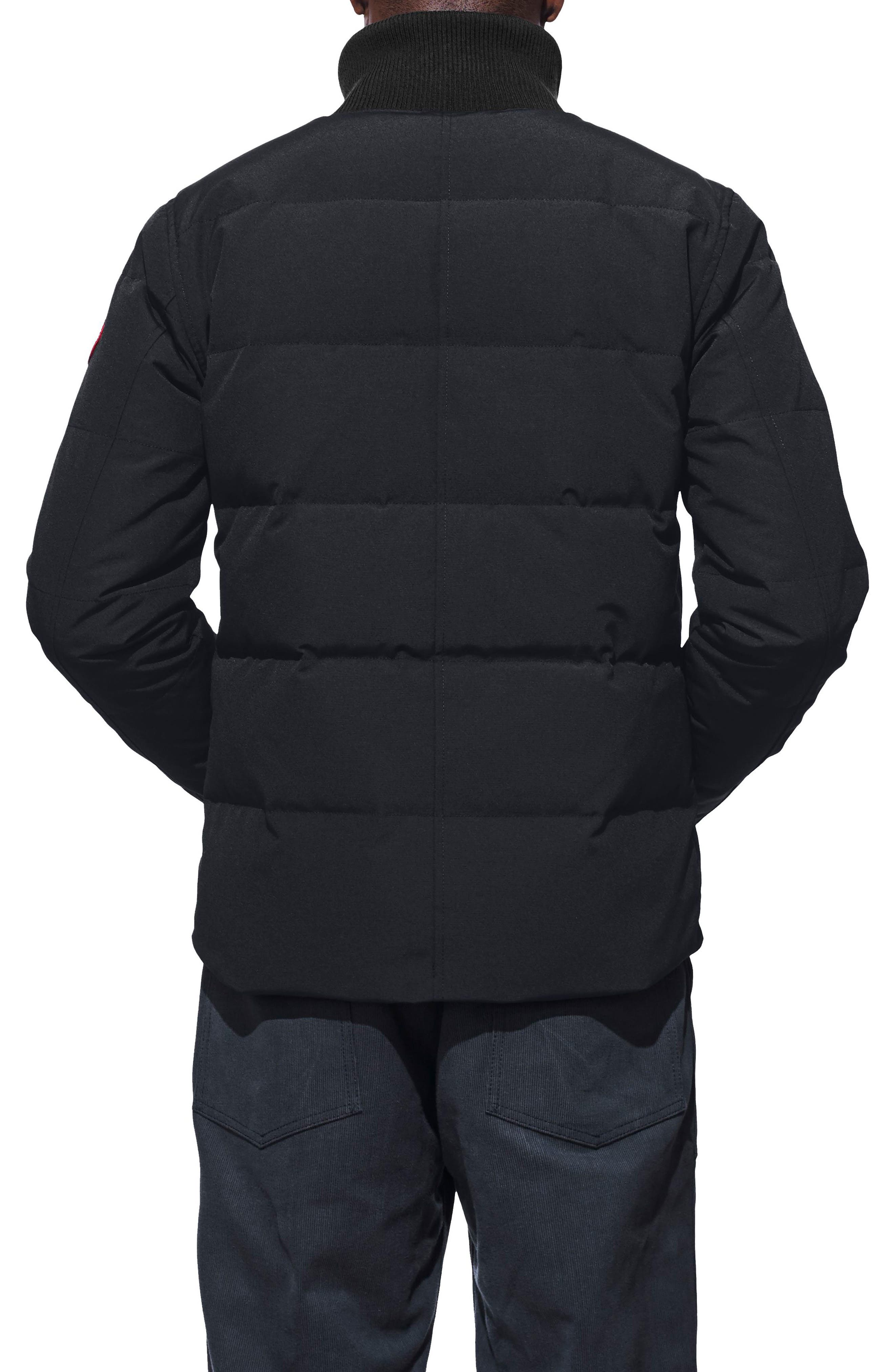 CANADA GOOSE,                             Woolford Fusion Fit Down Jacket,                             Alternate thumbnail 2, color,                             NAVY