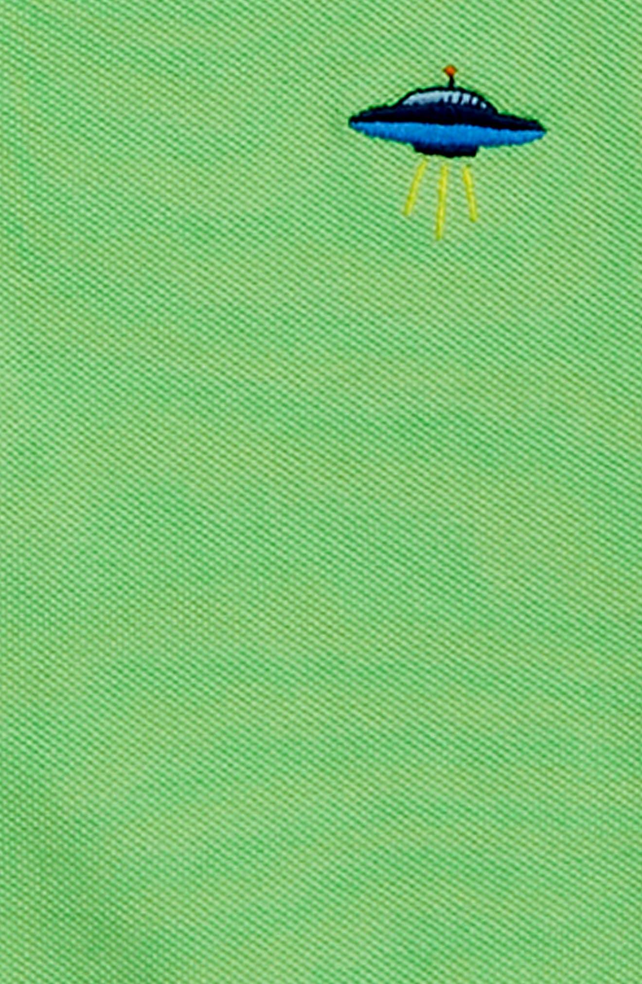 Critter Long Sleeve Polo,                             Alternate thumbnail 2, color,                             BOLD LIME