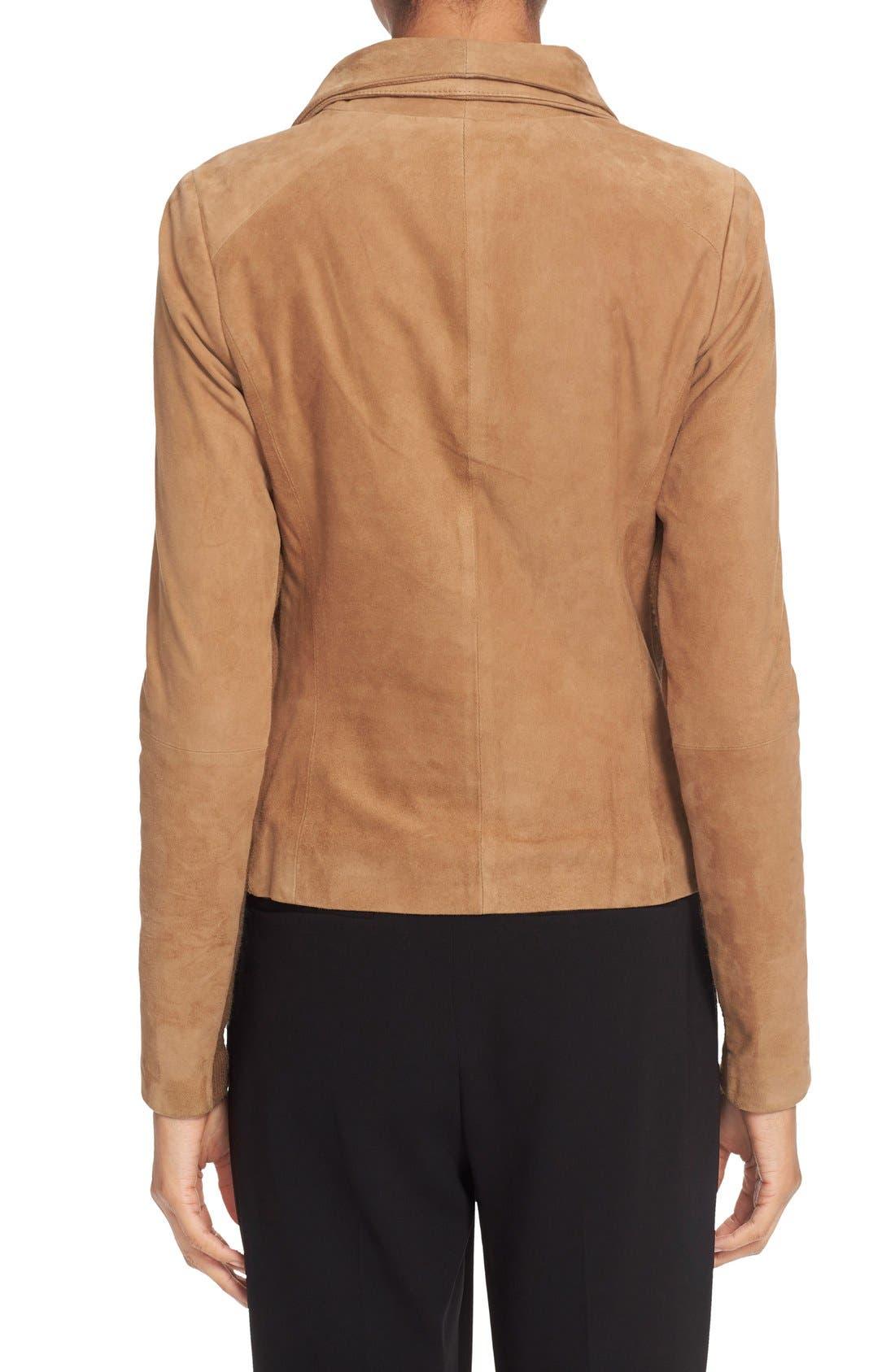 Suede Scuba Jacket,                             Alternate thumbnail 4, color,                             260