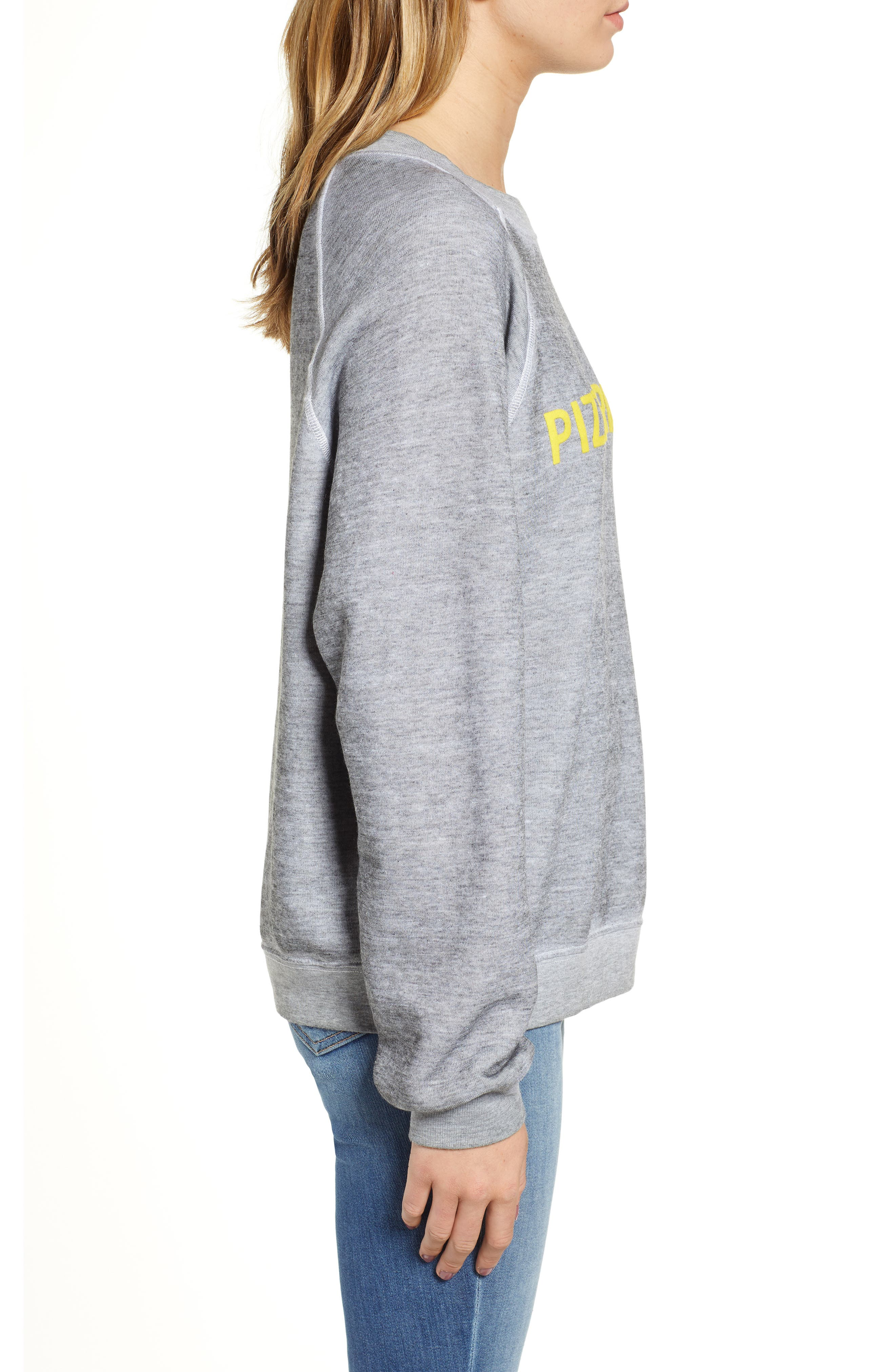 Pizzatarian Sommers Sweatshirt,                             Alternate thumbnail 3, color,                             HEATHER