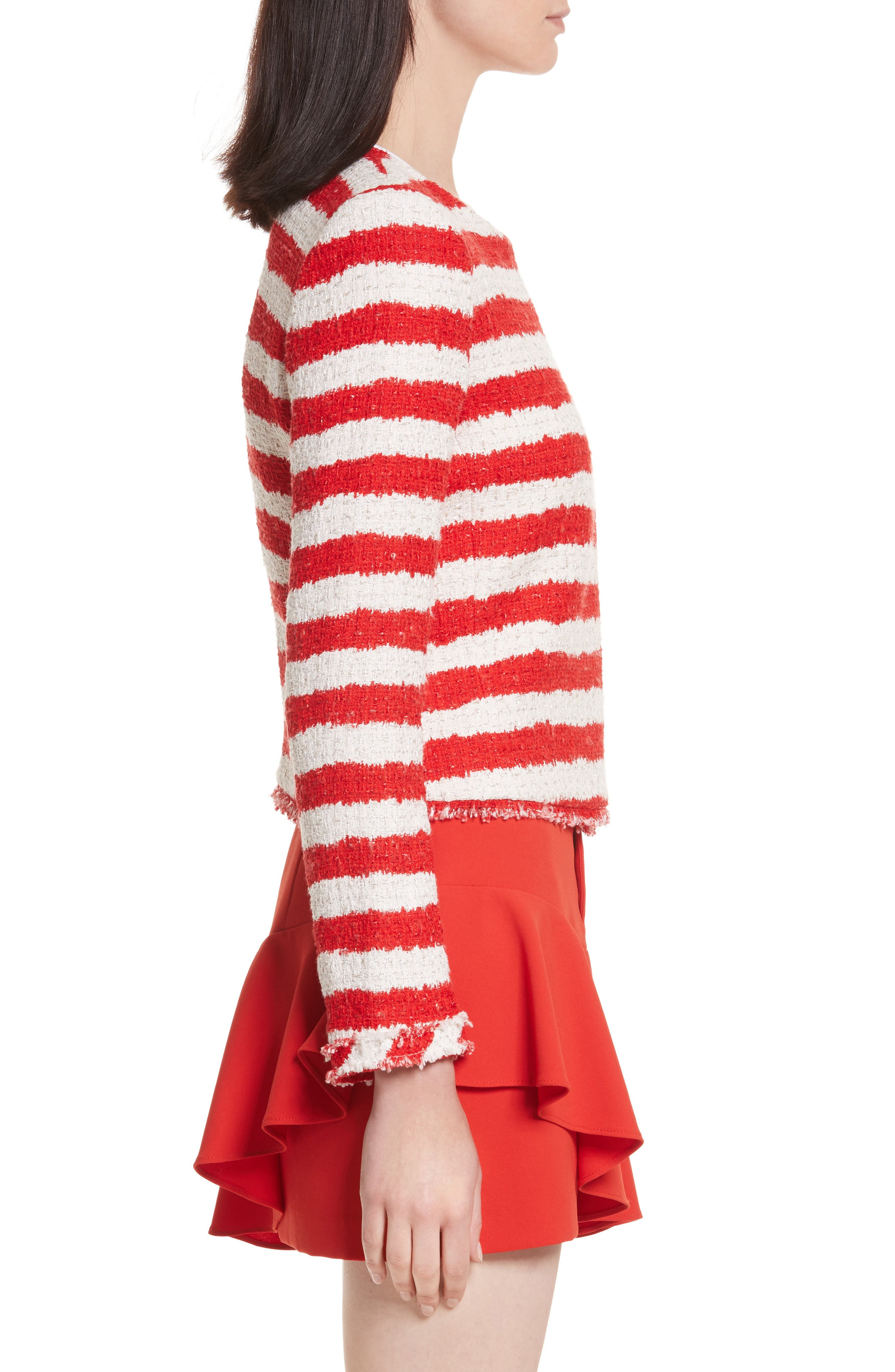 Stanton Stripe Tweed Jacket,                             Alternate thumbnail 3, color,