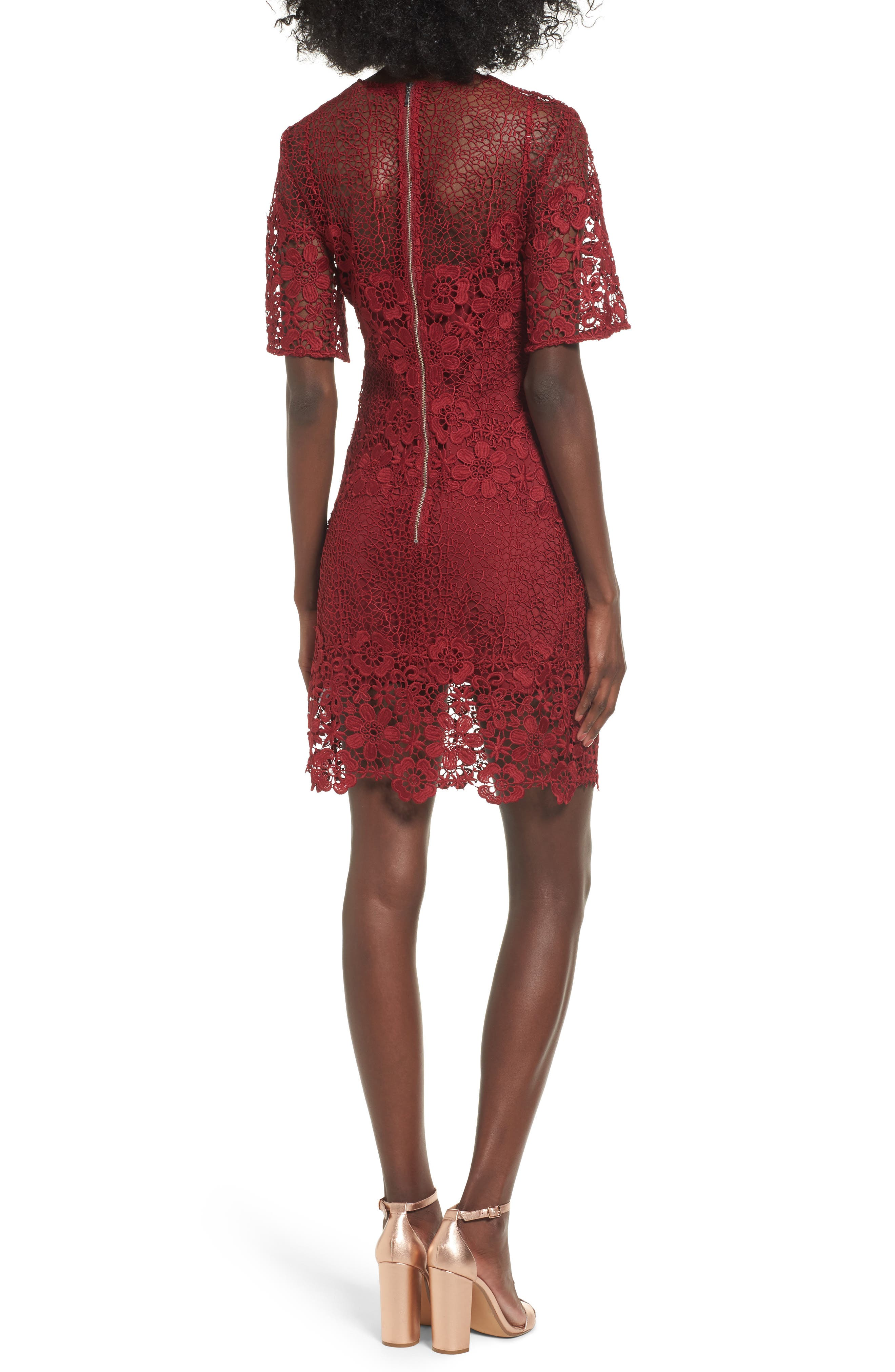 Reach Out Lace Body-Con Dress,                             Alternate thumbnail 2, color,