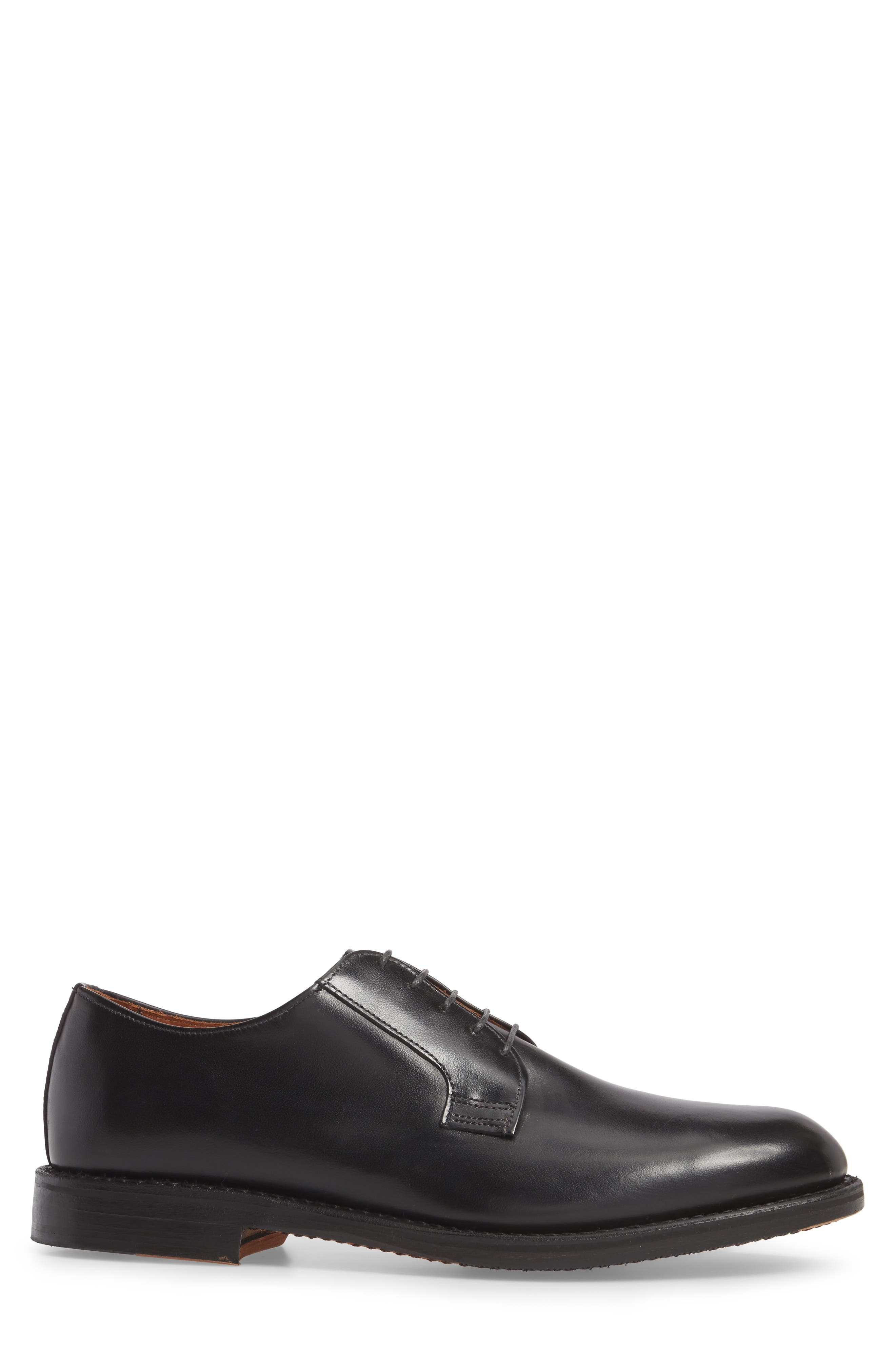 Whitney Plain Toe Derby,                             Alternate thumbnail 3, color,                             BLACK LEATHER