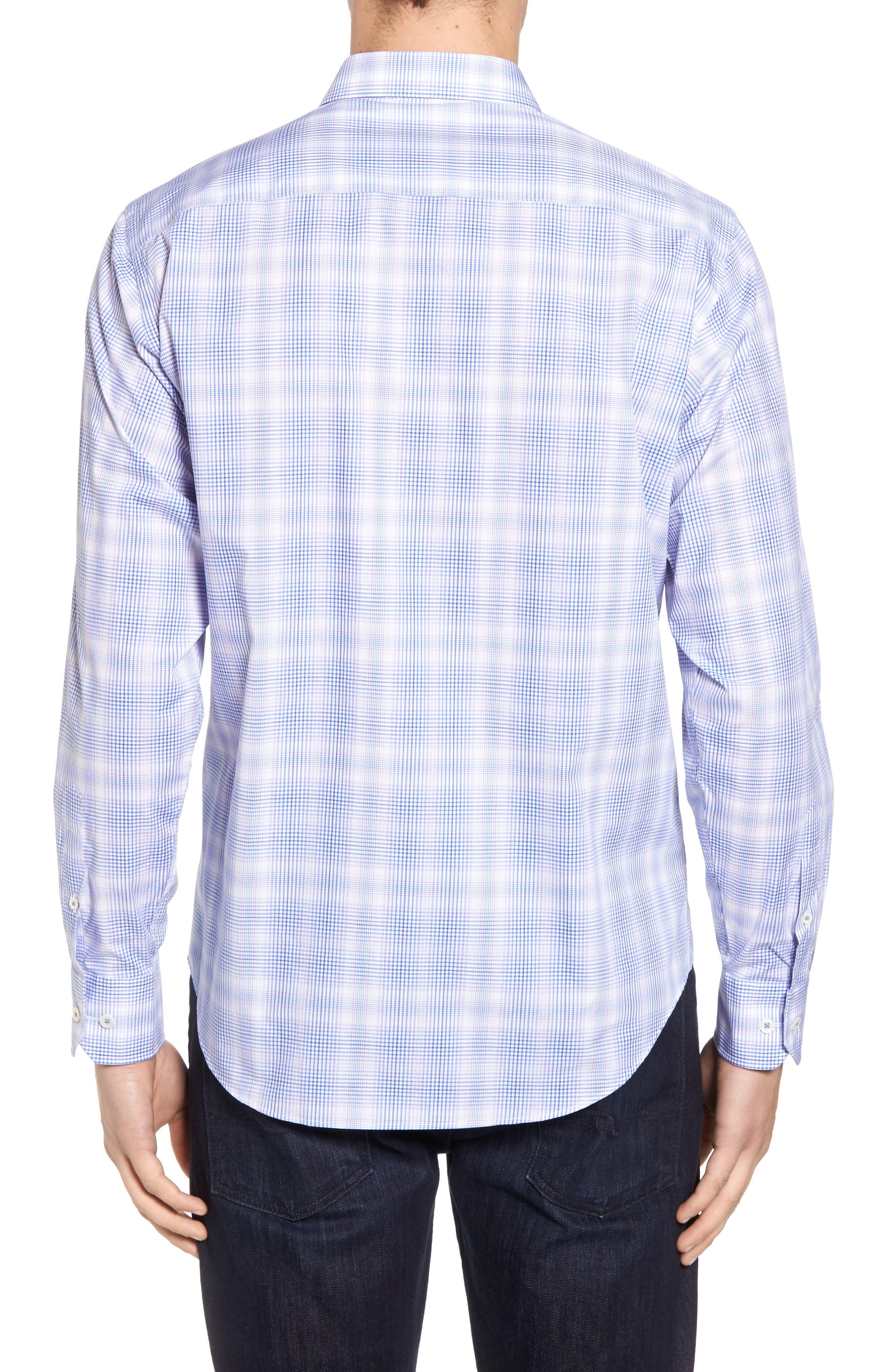 Classic Fit Plaid Sport Shirt,                             Alternate thumbnail 2, color,                             511