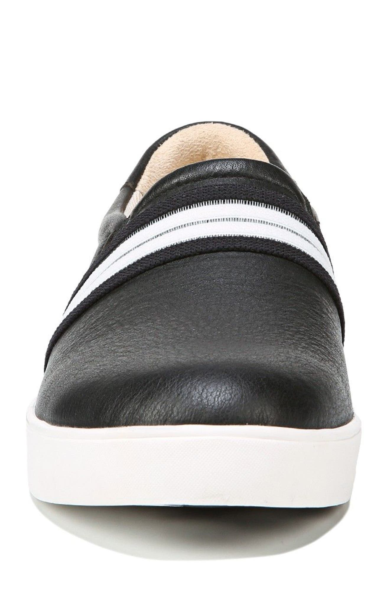 Scout Slip-On Sneaker,                             Alternate thumbnail 4, color,                             BLACK LEATHER 2