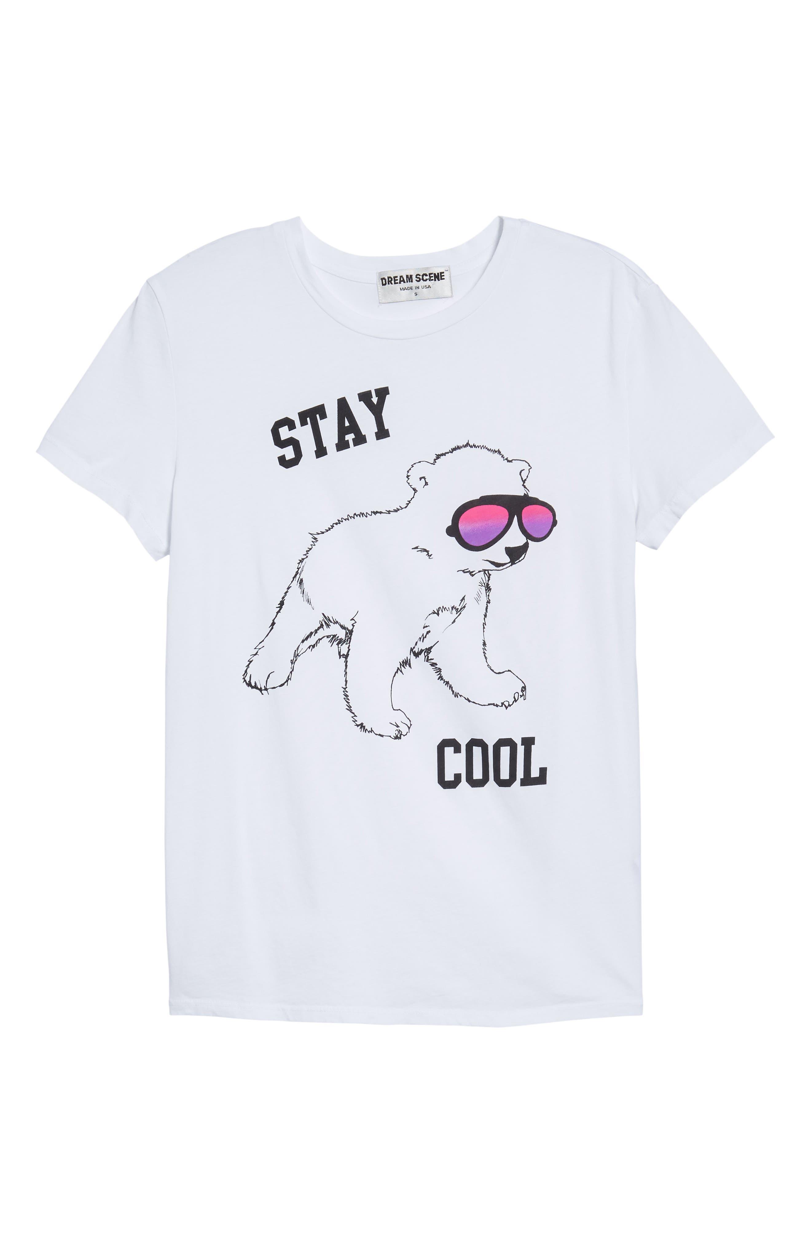 Stay Cool Polar Bear Tee,                             Alternate thumbnail 6, color,