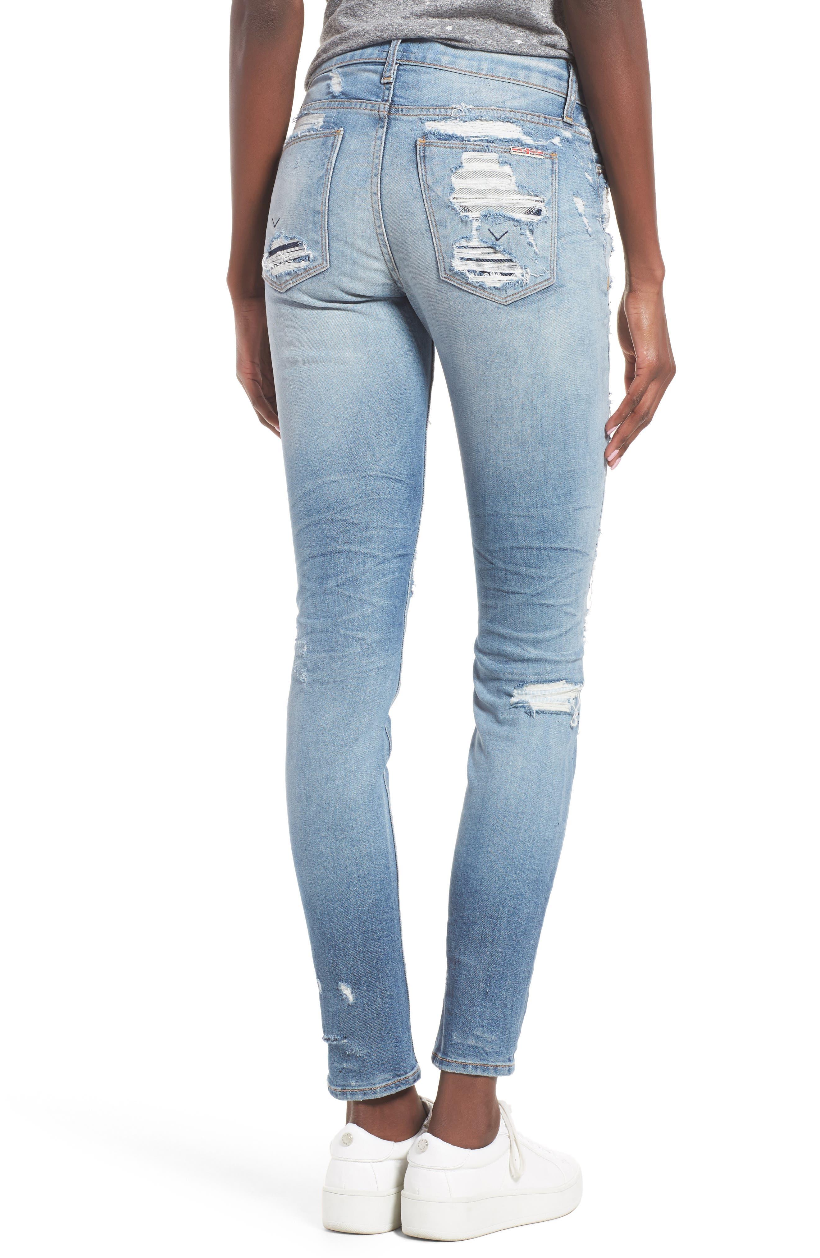 Nico Shredded Skinny Jeans,                             Alternate thumbnail 5, color,