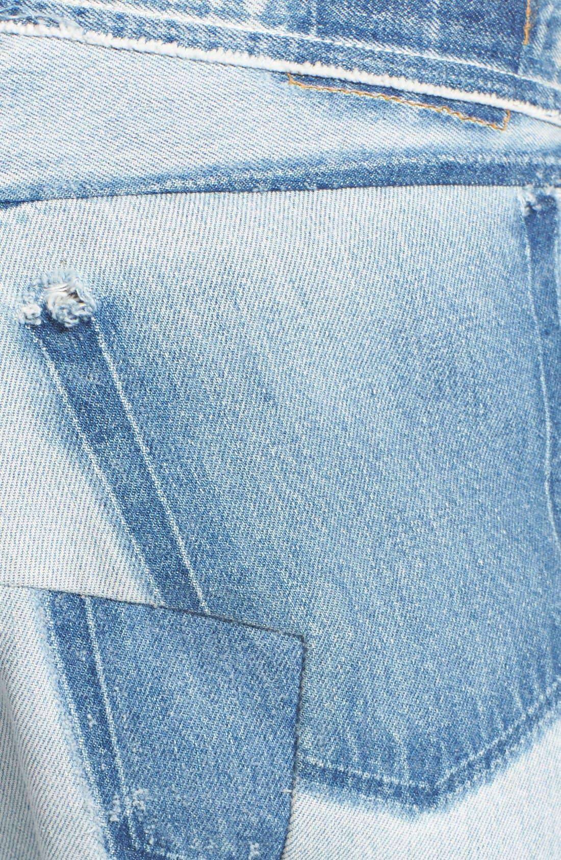Deconstructed Crop Jeans,                             Alternate thumbnail 5, color,                             400