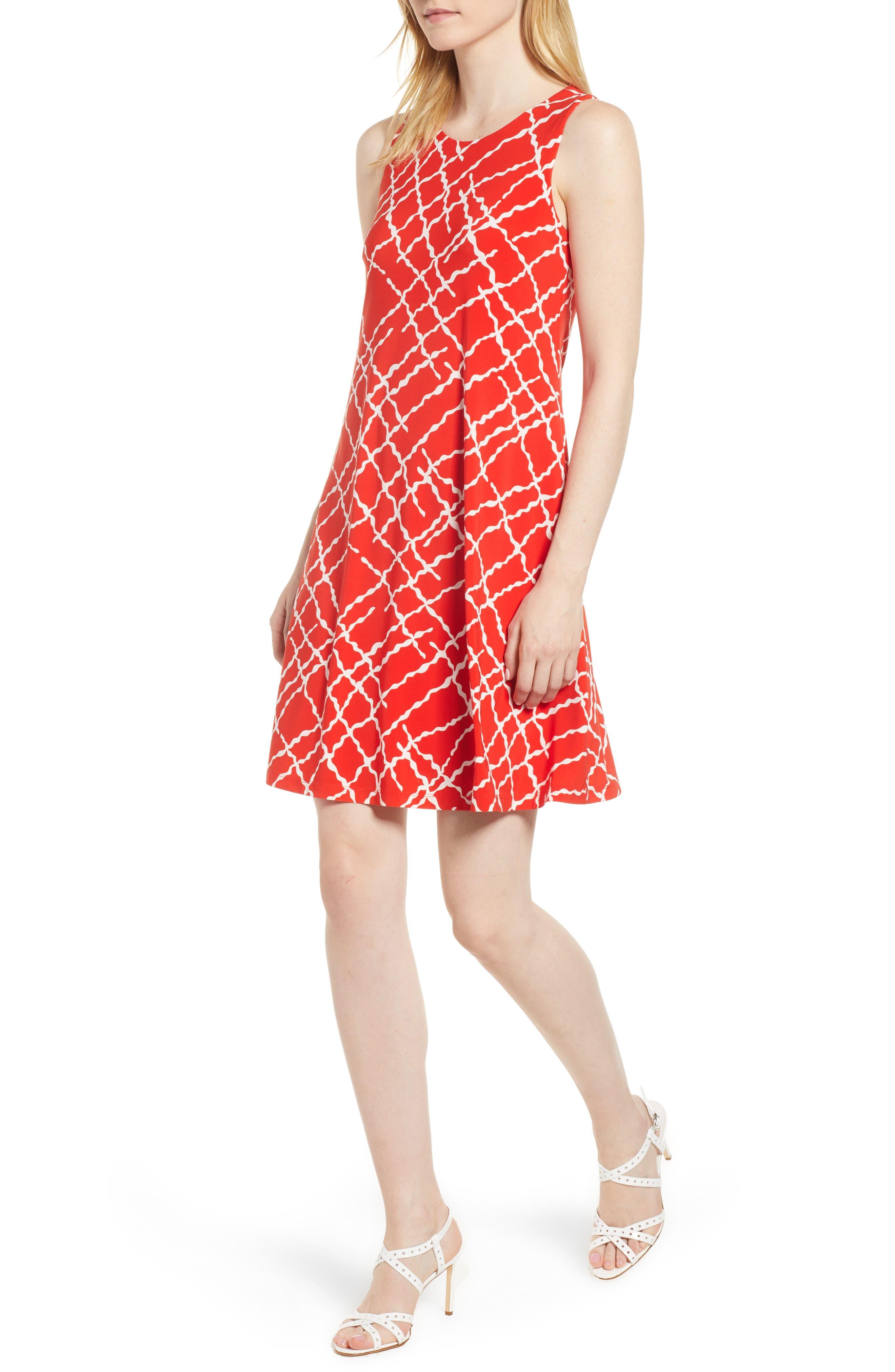 Print Swing Dress,                             Main thumbnail 2, color,
