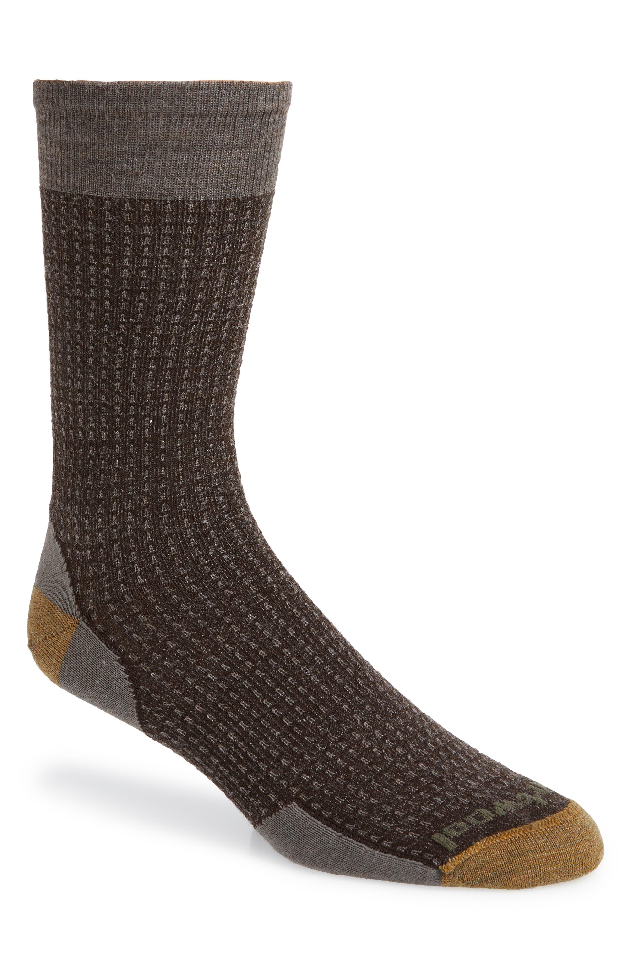 Premium East Gate Socks,                         Main,                         color, TAUPE HEATHER