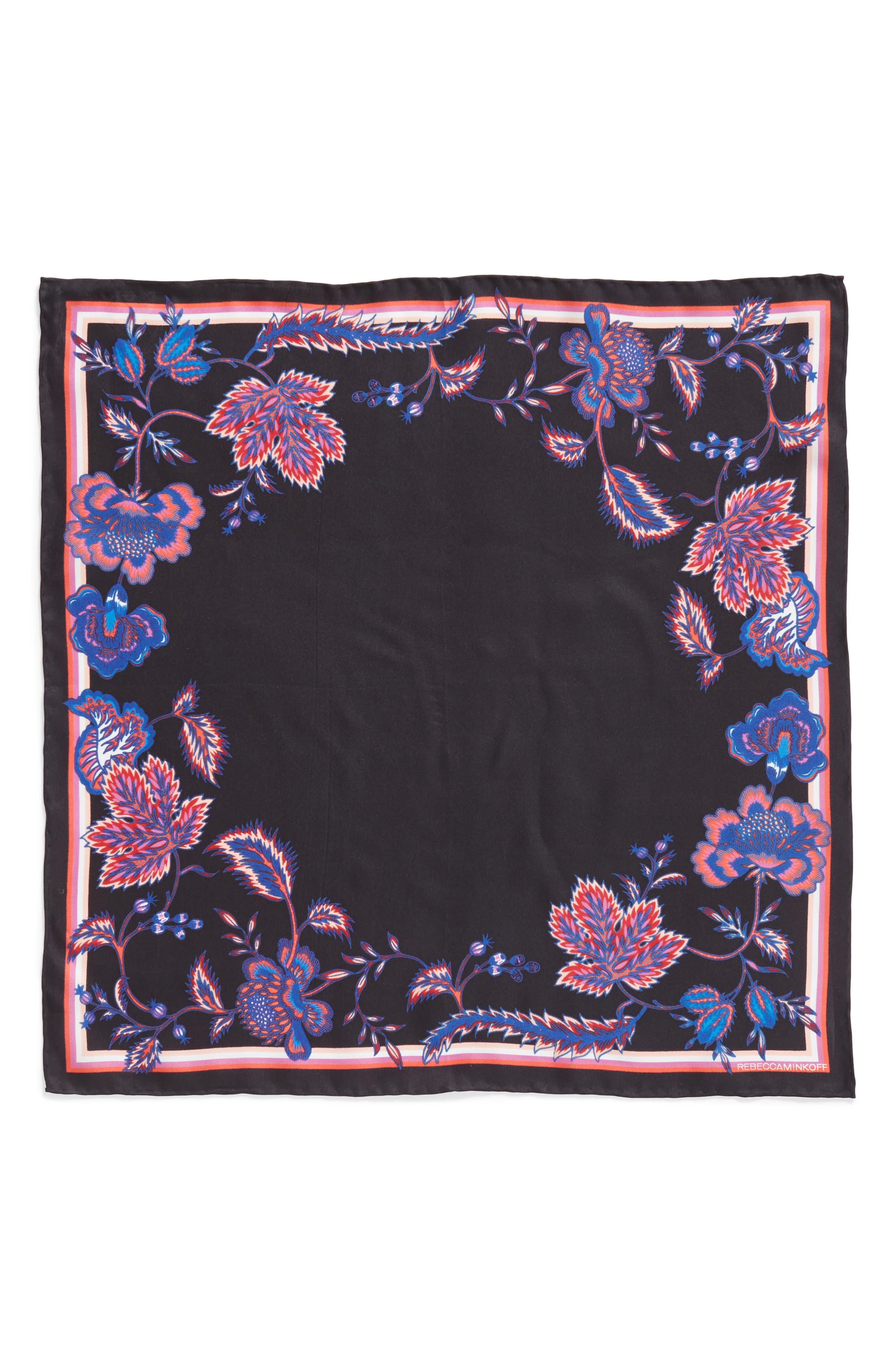 Hypnotic Floral Bandana,                             Alternate thumbnail 3, color,                             BLACK