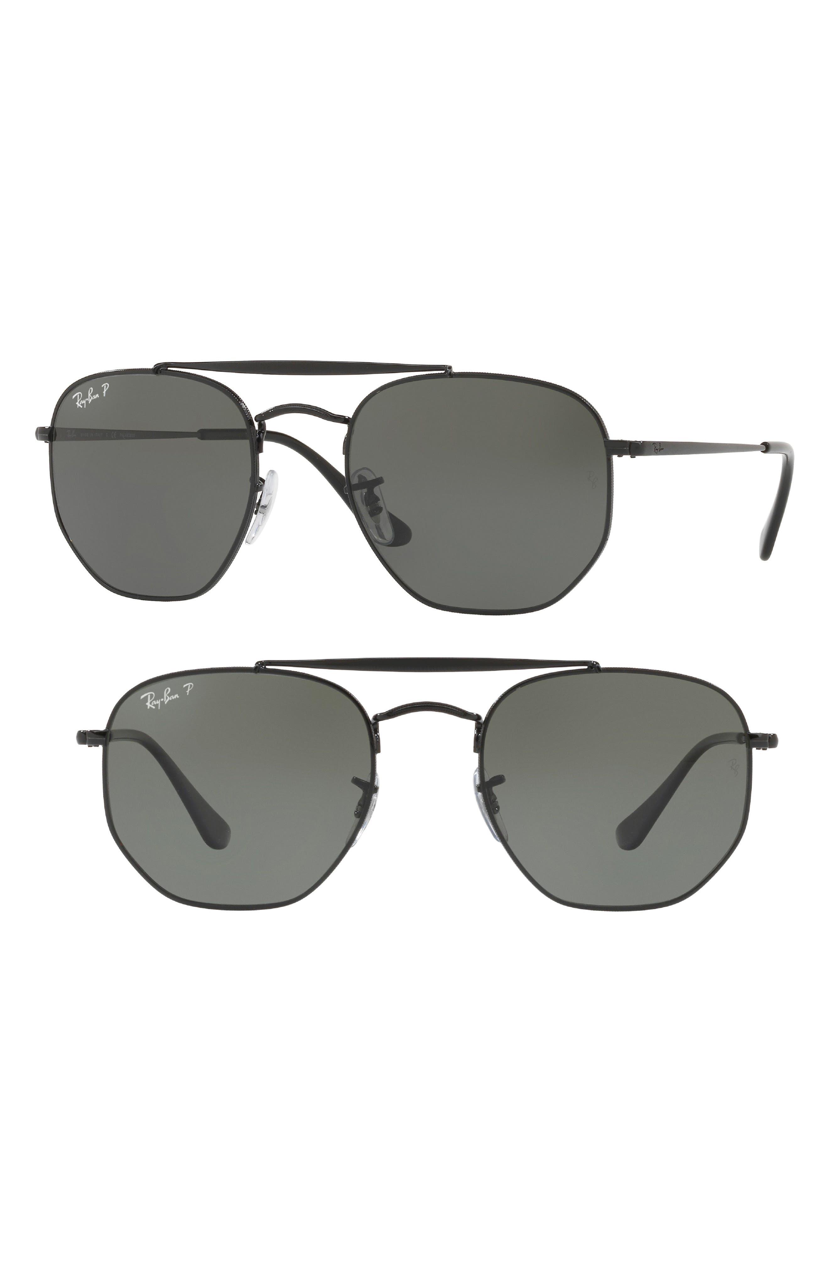 55mm Geometric Sunglasses,                             Main thumbnail 1, color,                             002