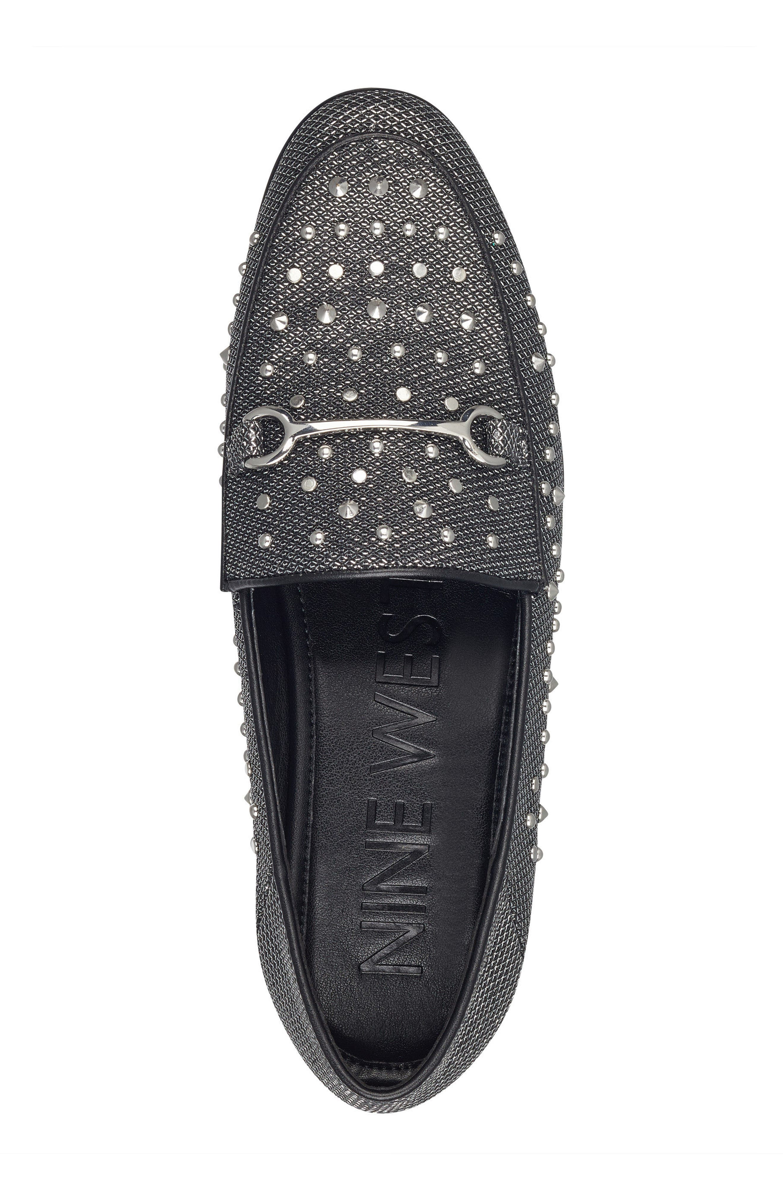 Westoy Studded Loafer,                             Alternate thumbnail 5, color,                             001