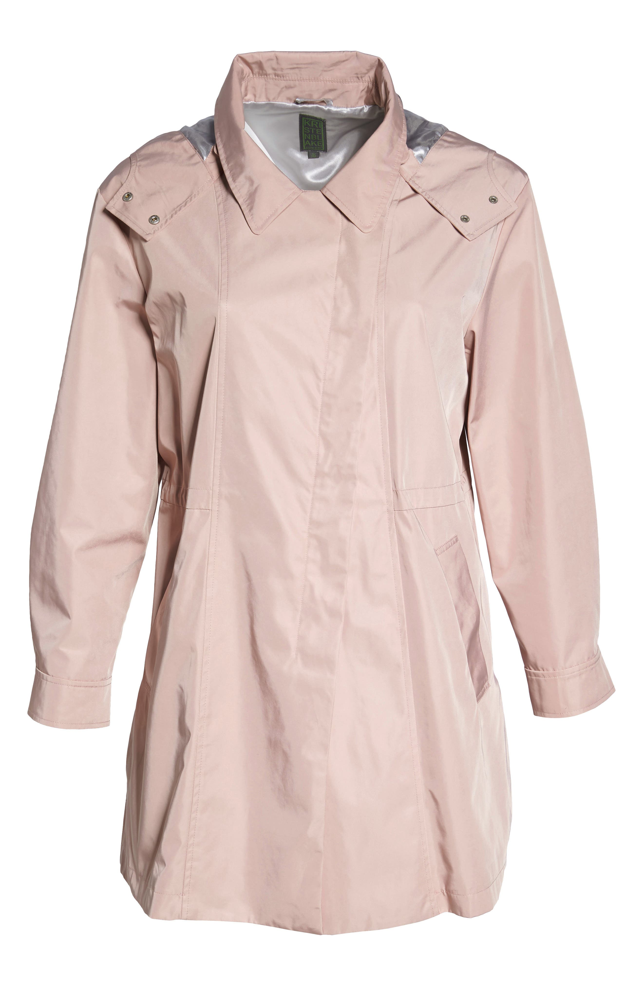 Tech Hooded Trench Coat,                             Alternate thumbnail 11, color,