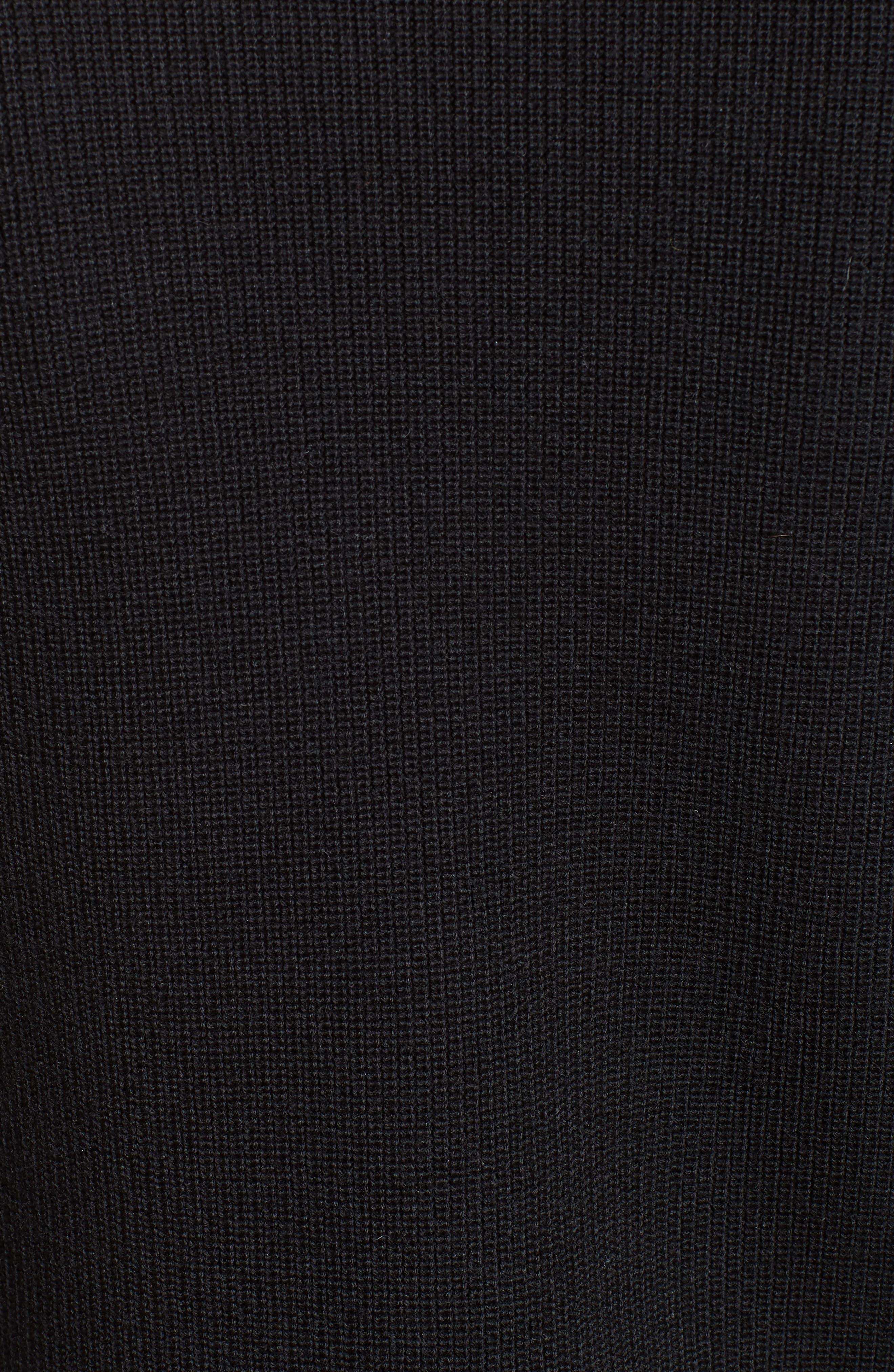 Meigan Merino Wool Sweater,                             Alternate thumbnail 5, color,                             001