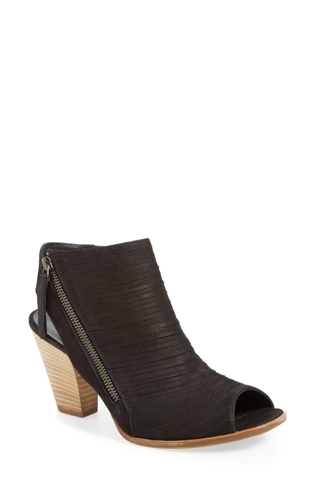 'Cayanne' Leather Peep Toe Sandal,                             Main thumbnail 6, color,
