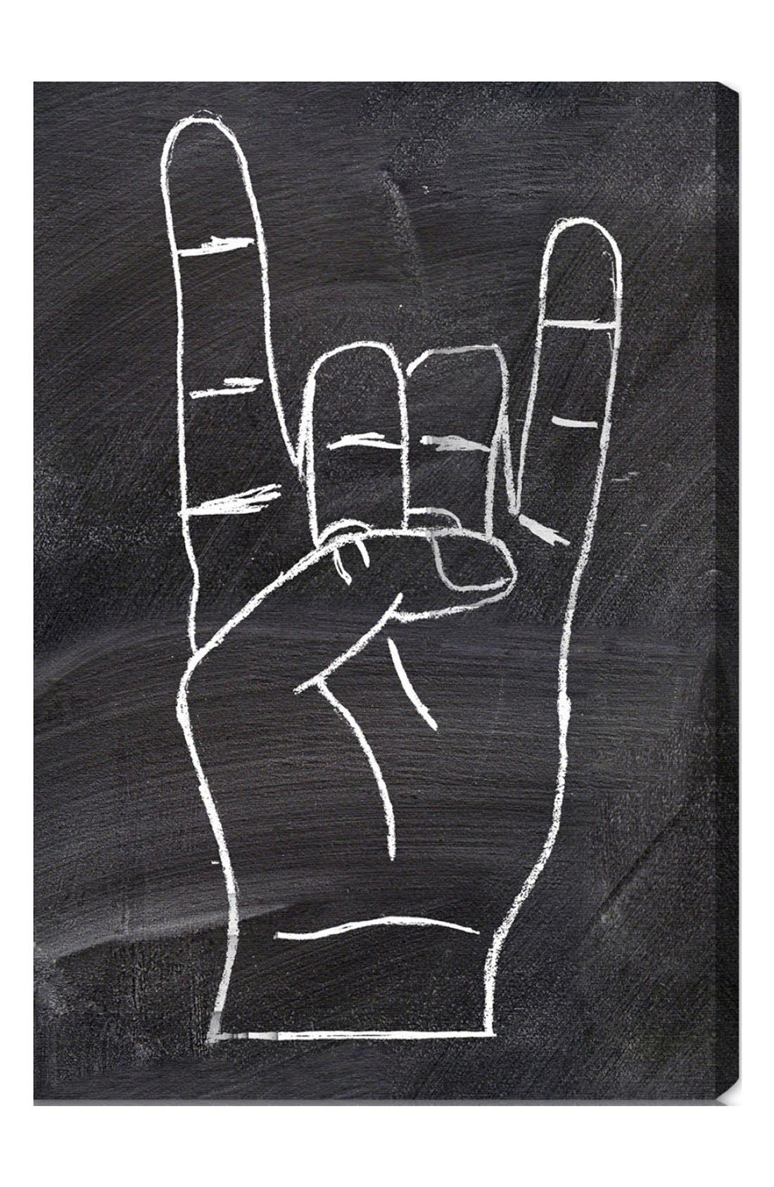 'Rock On' Wall Art, Main, color, 020