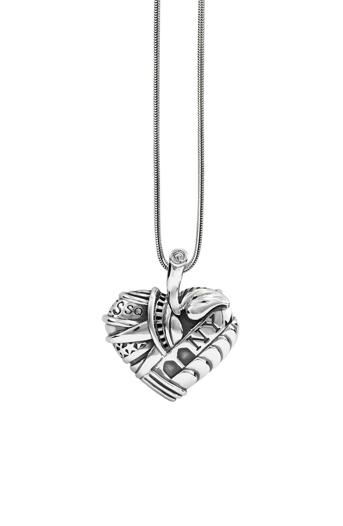 'Hearts of LAGOS - New York' Long Pendant Necklace,                             Main thumbnail 1, color,                             HEART OF NEW YORK