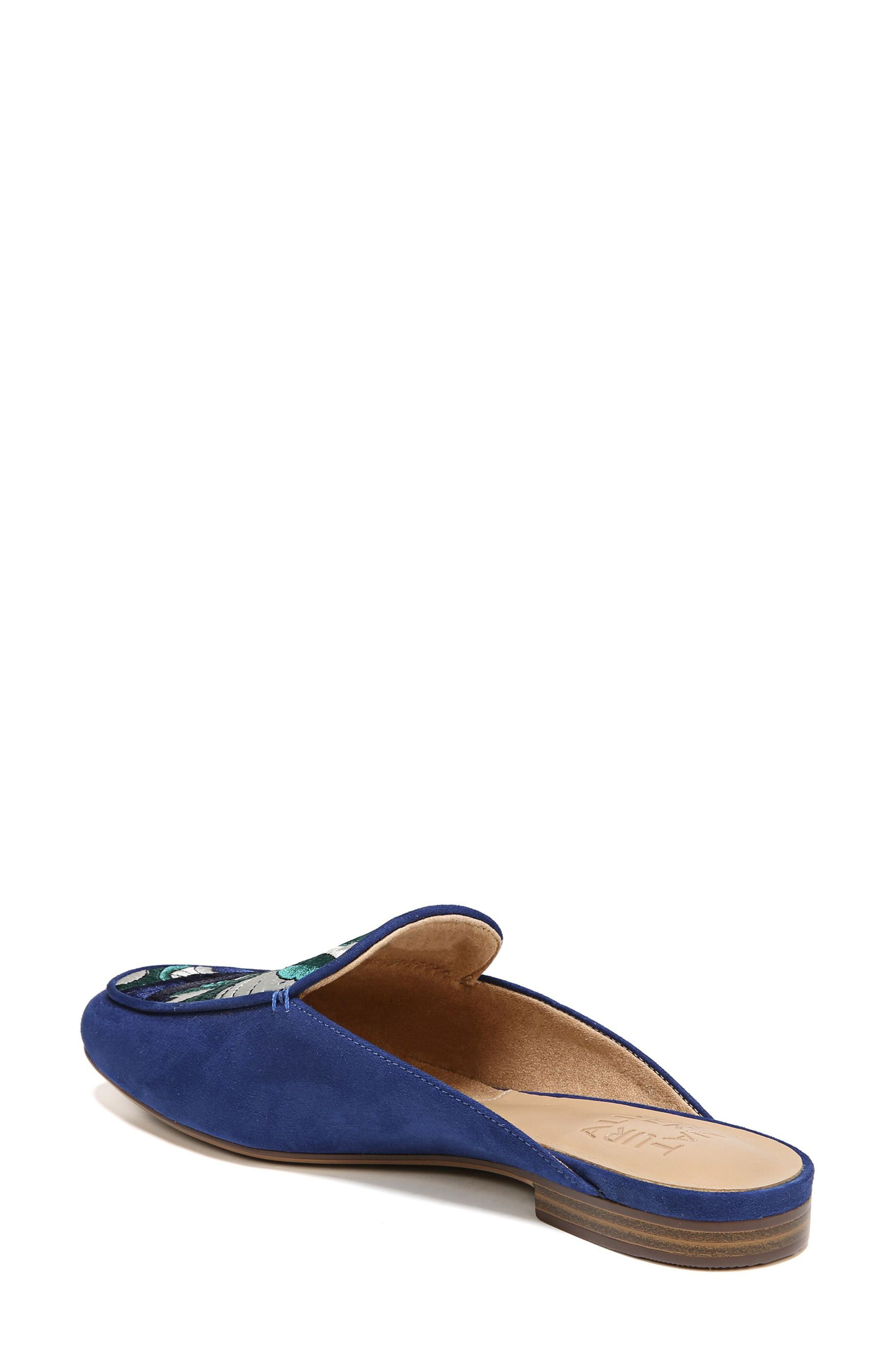 NATURALIZER,                             Eden II Embroidered Mule,                             Alternate thumbnail 2, color,                             SAPPHIRE FABRIC