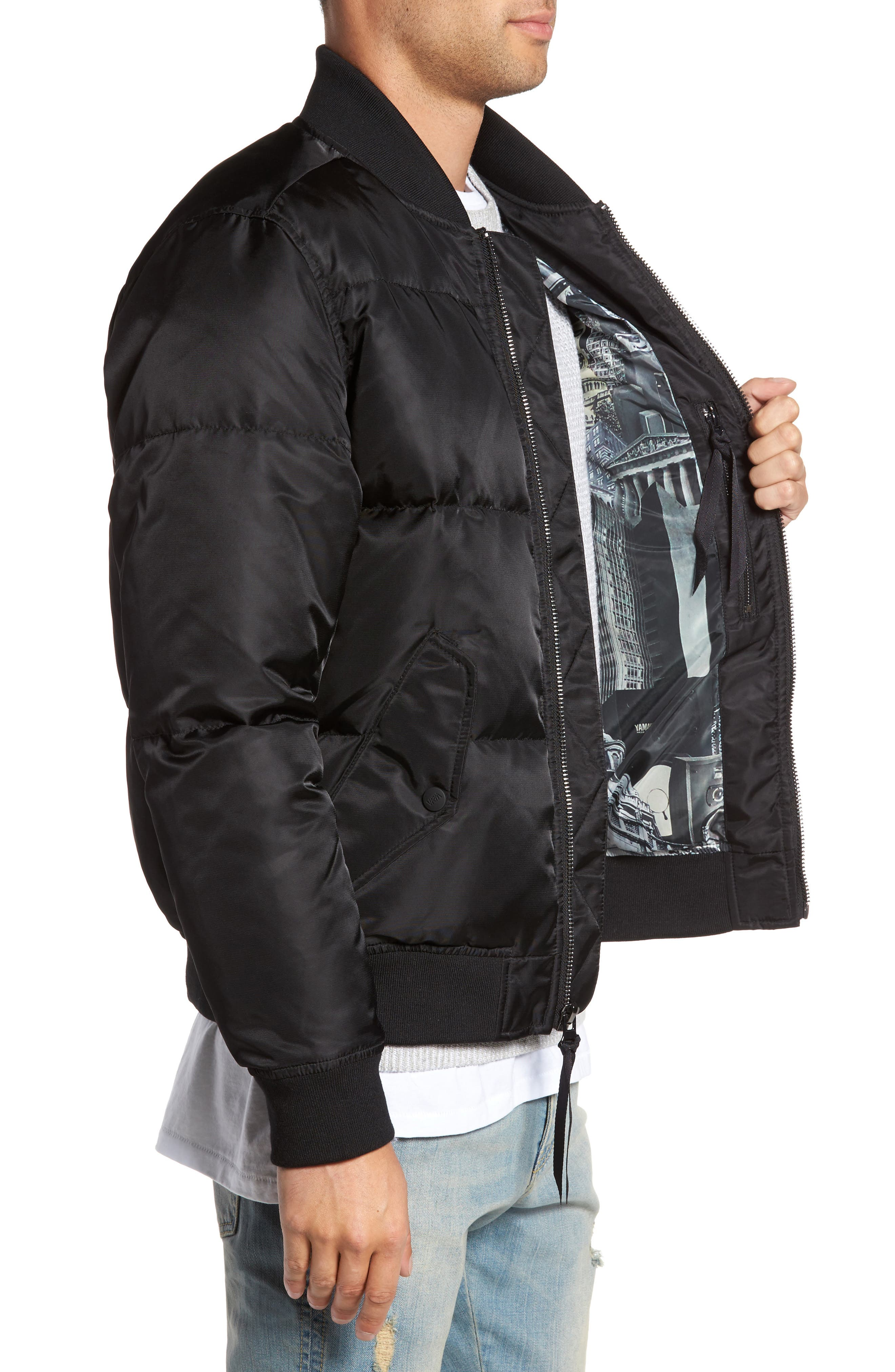 Quilted Down Bomber Jacket,                             Alternate thumbnail 9, color,