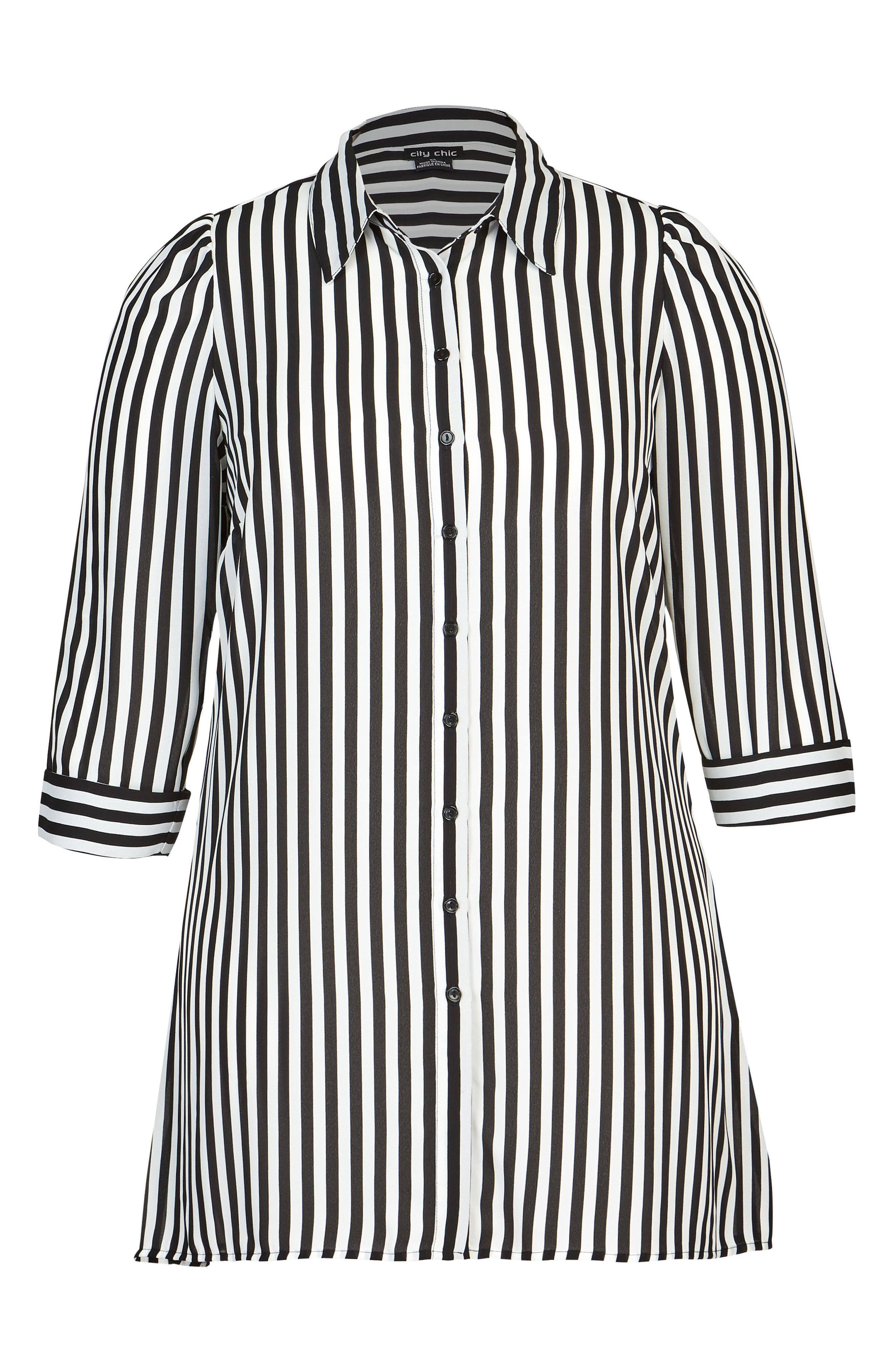 Stripe Love Tunic,                             Alternate thumbnail 3, color,                             STRIPE