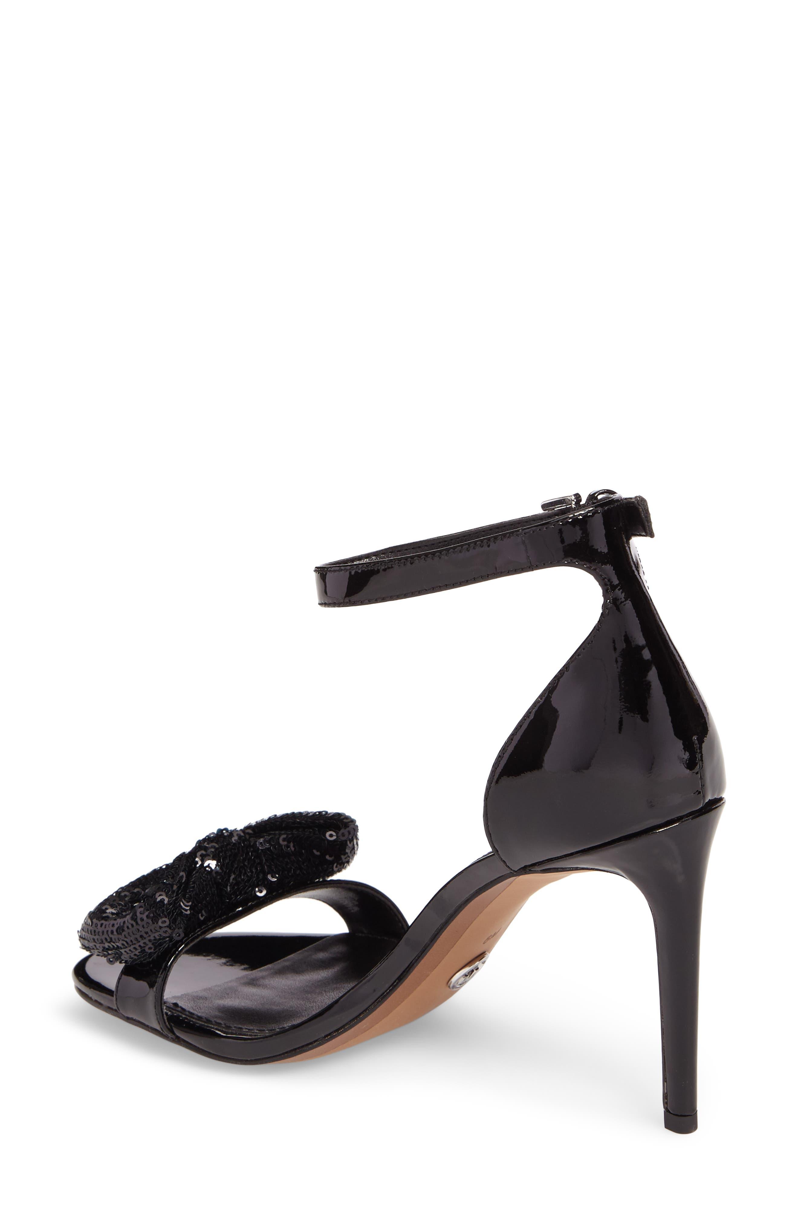 Paris Sequin Bow Sandal,                             Alternate thumbnail 2, color,                             001