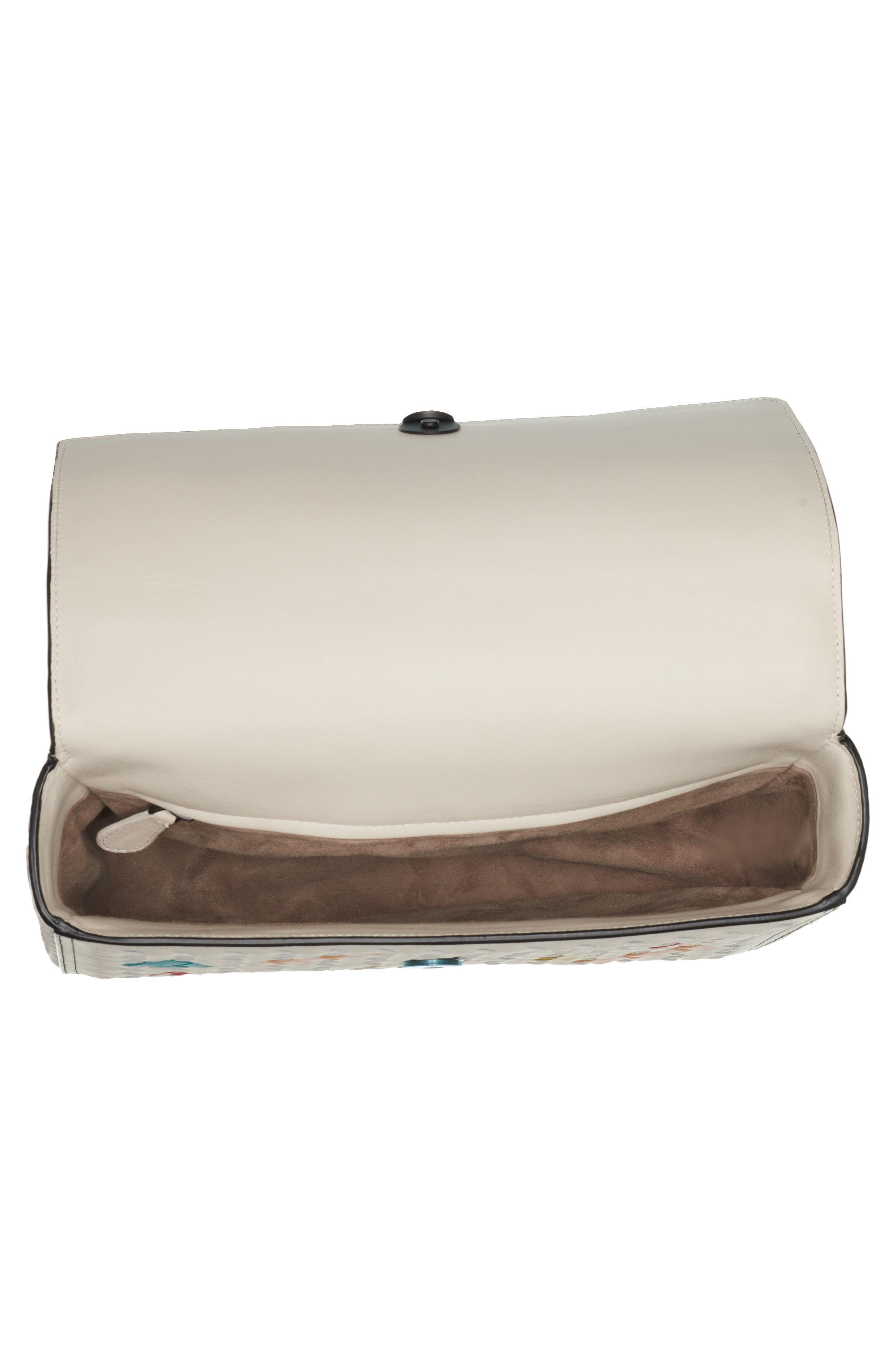 Alumna Leather Crossbody Bag,                             Alternate thumbnail 3, color,                             100