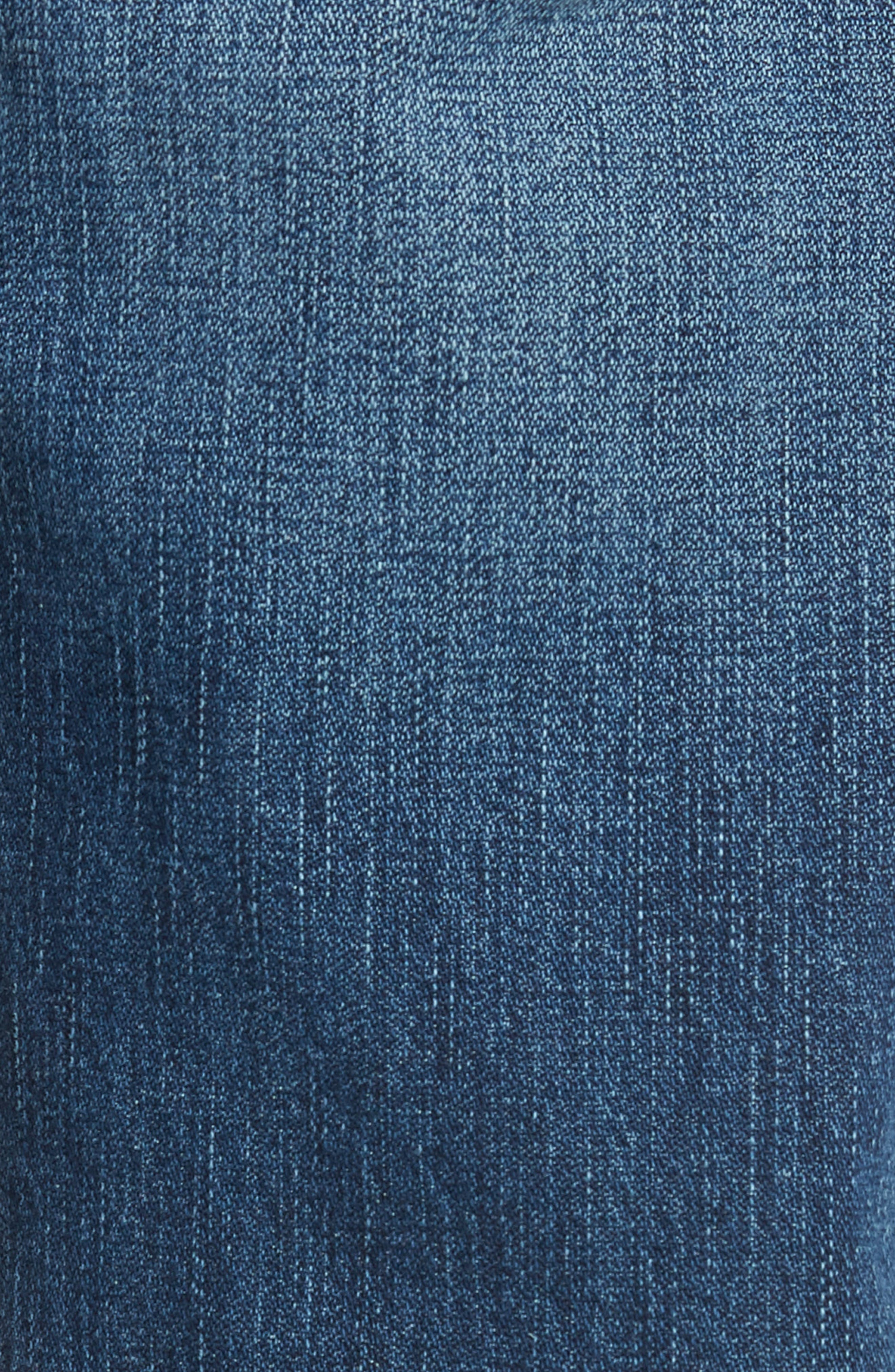 Geno Straight Fit Jeans,                             Alternate thumbnail 5, color,                             WORN PASTURE
