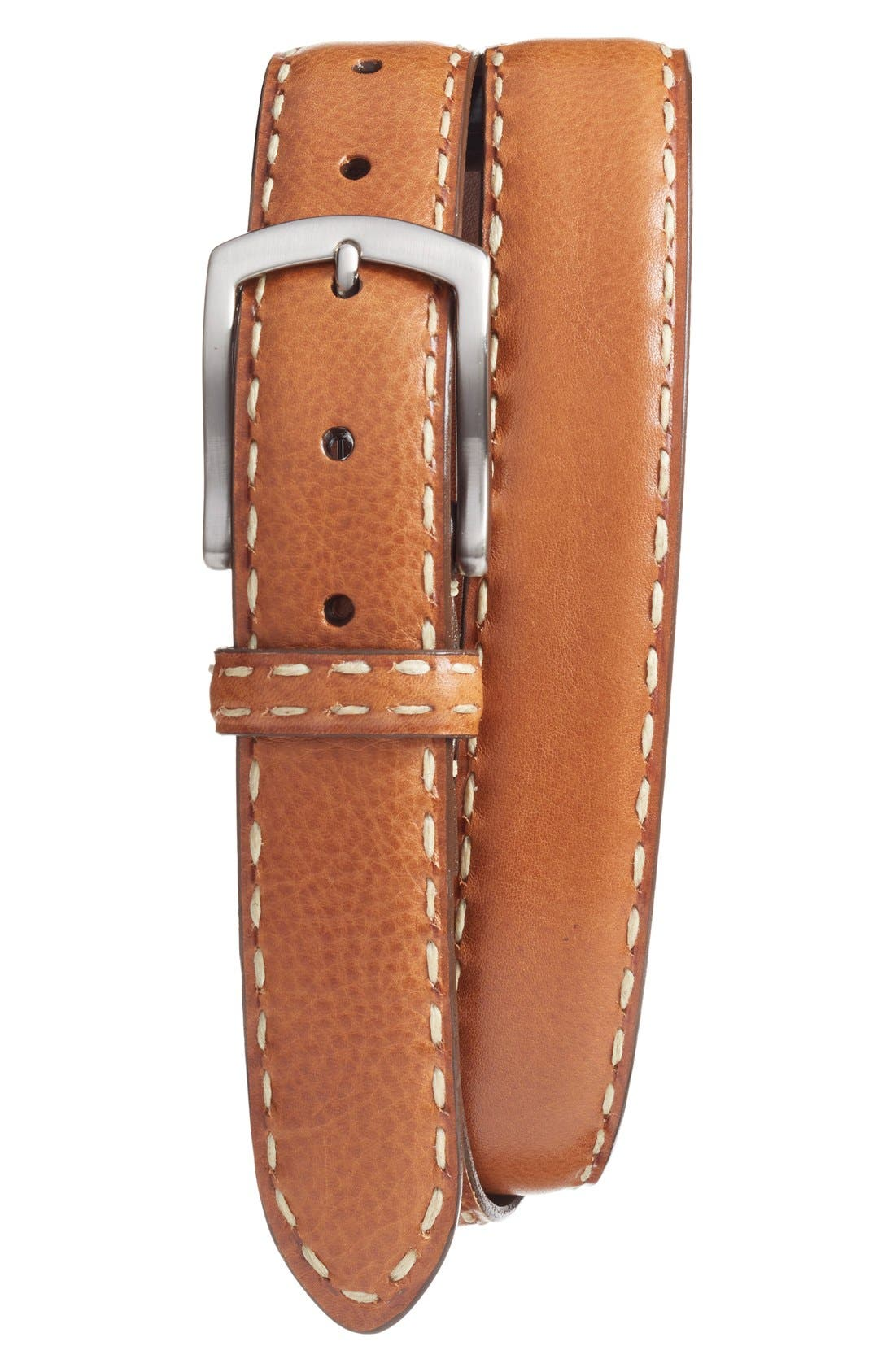 Calfskin Leather Belt,                             Main thumbnail 1, color,                             219