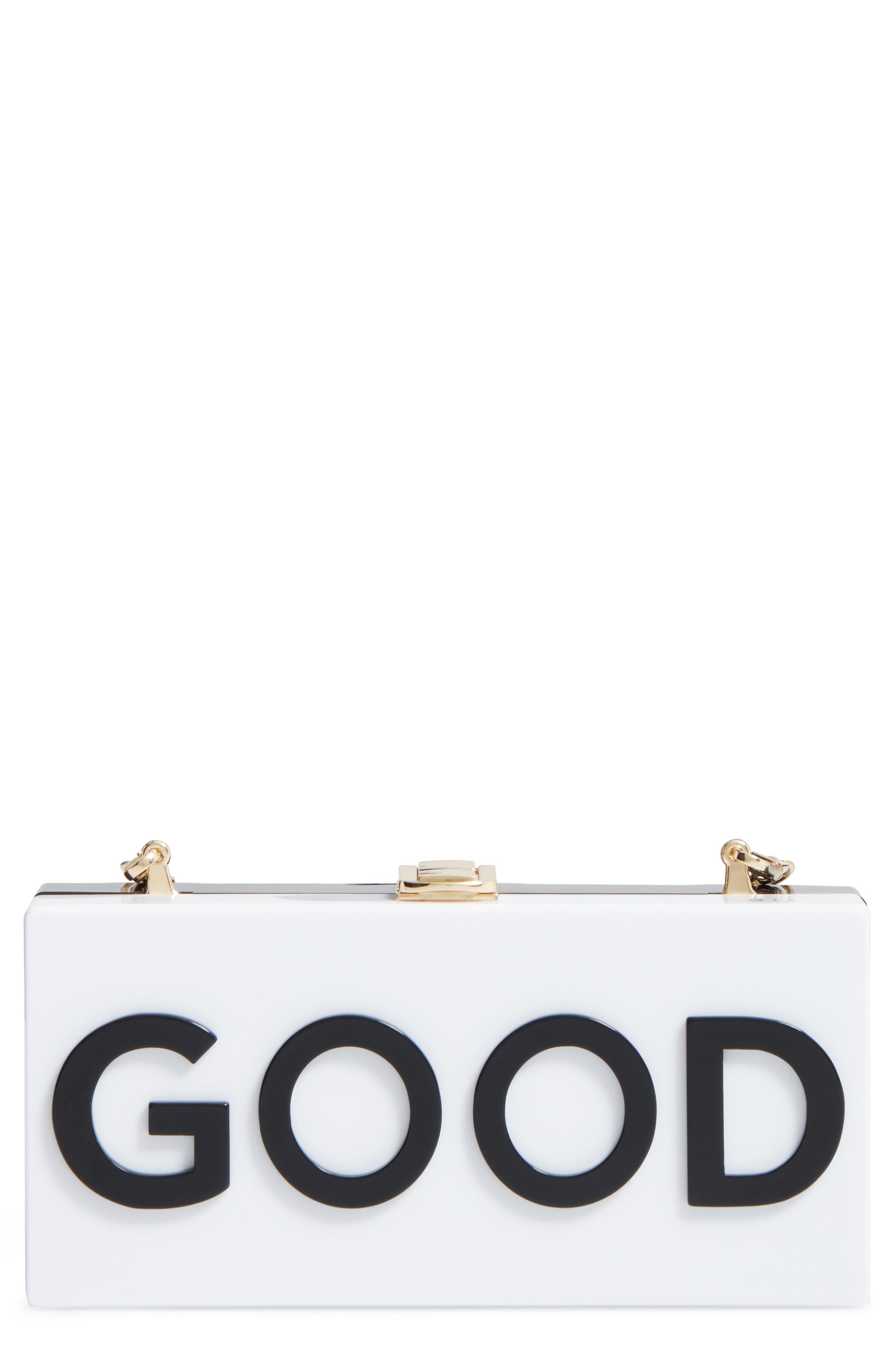 Good/Bad Box Clutch,                             Main thumbnail 1, color,                             001