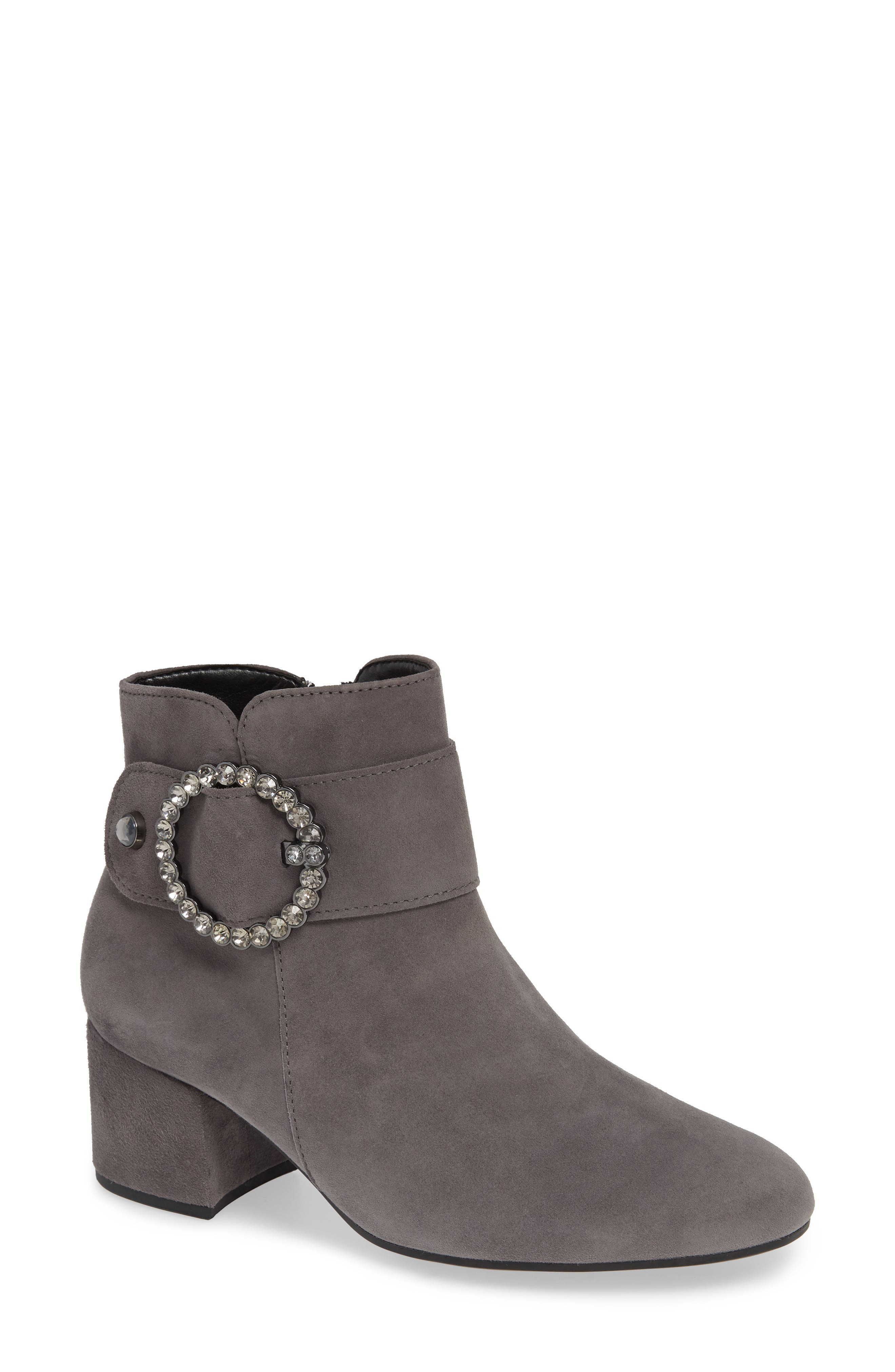 Fashion Bootie,                             Main thumbnail 1, color,                             DARK GREY LEATHER