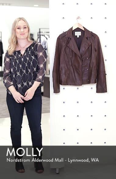 Feminine Leather Moto Jacket, sales video thumbnail