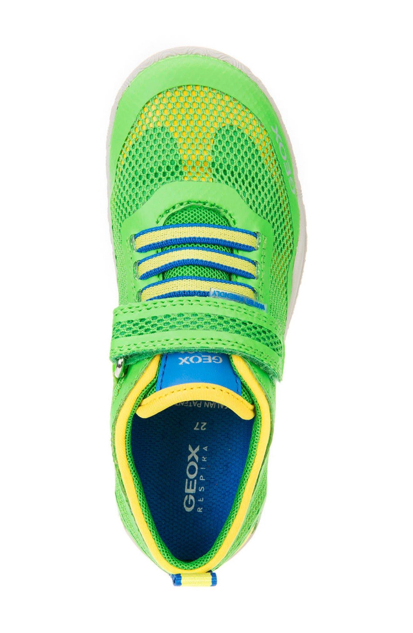 Trifon Sneaker,                             Alternate thumbnail 5, color,                             GREEN/ YELLOW