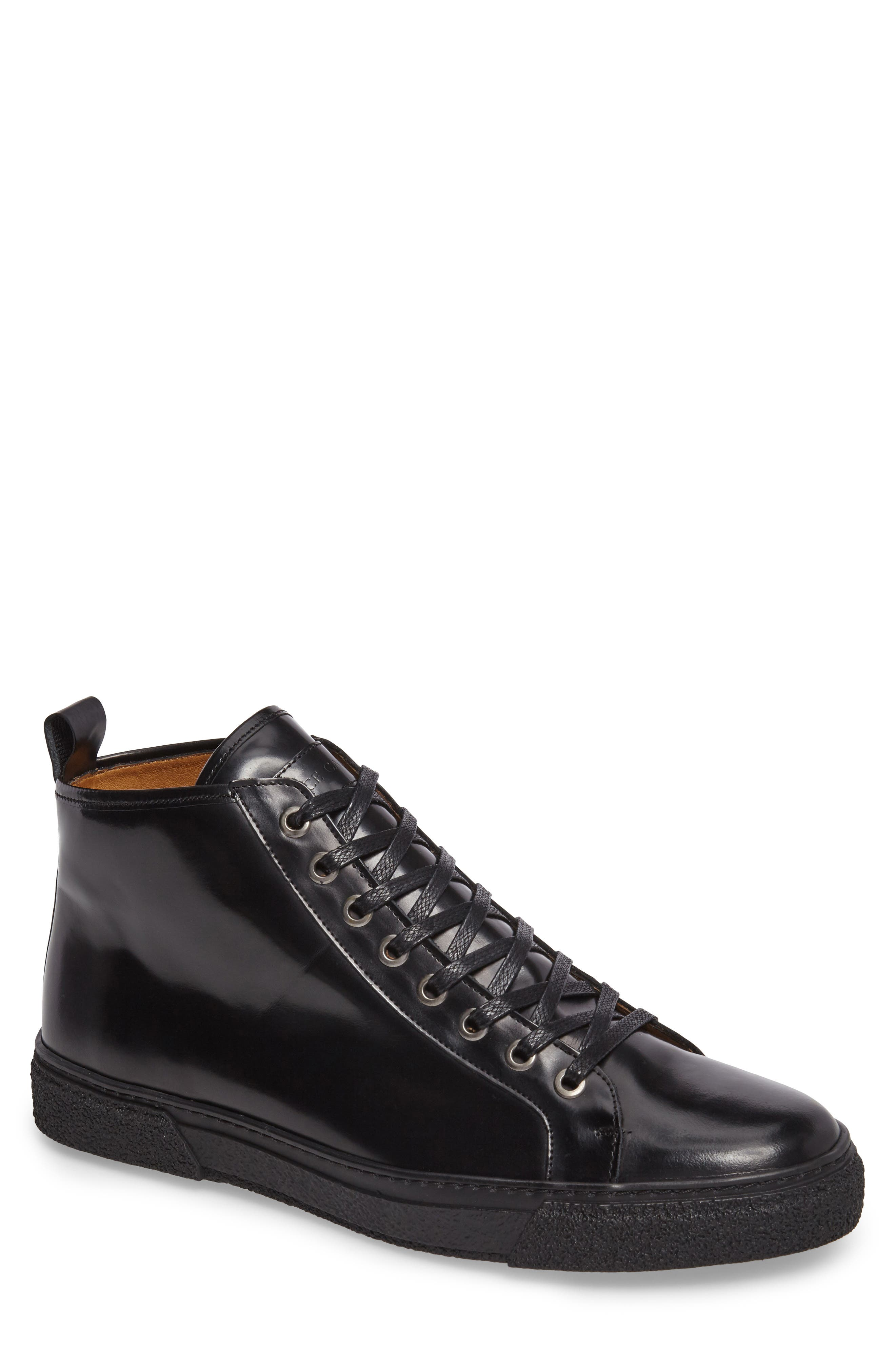 Westan Sneaker,                         Main,                         color, BLACK LEATHER