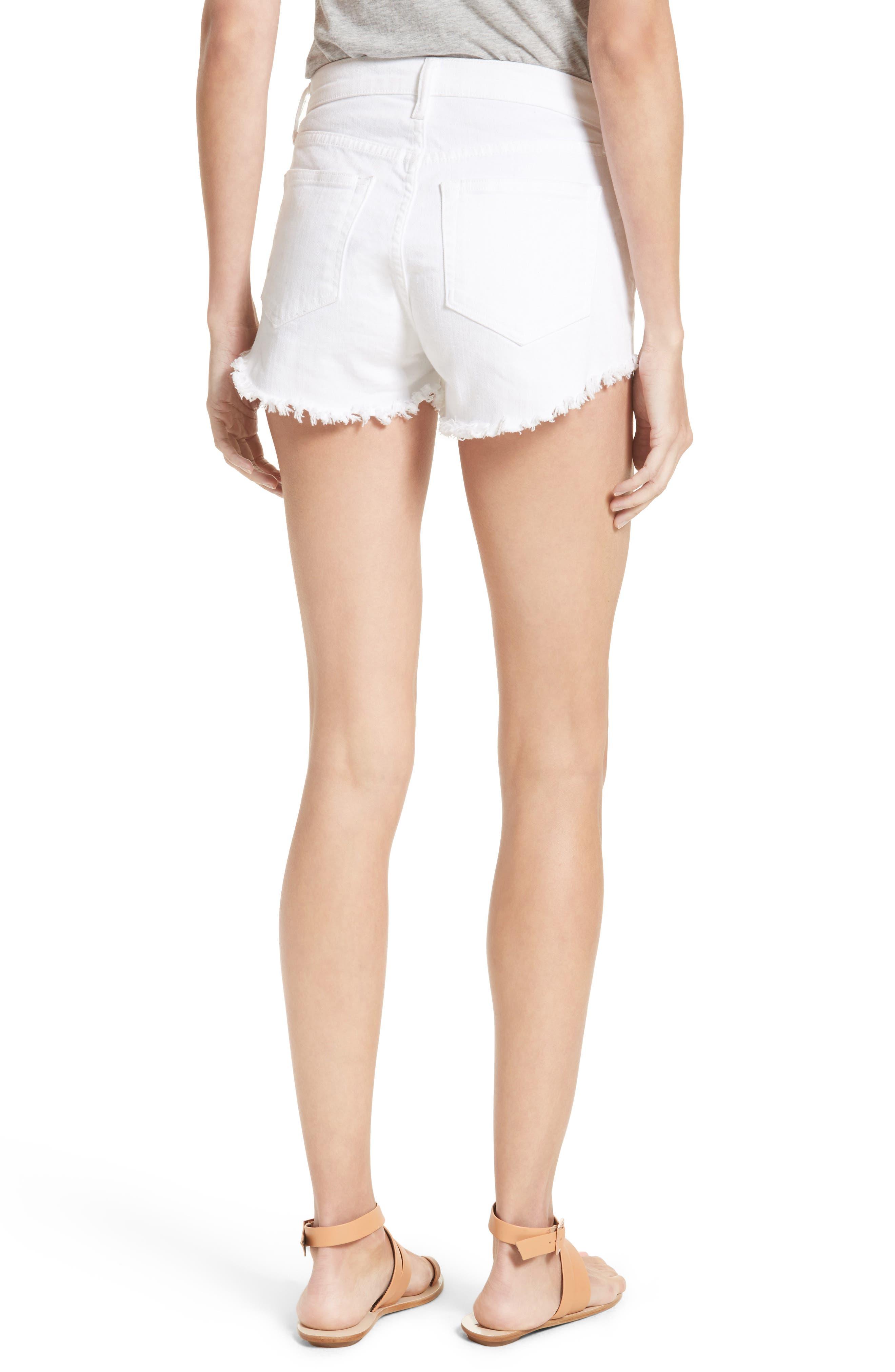Zoe Cutoff Denim Shorts,                             Alternate thumbnail 2, color,                             100