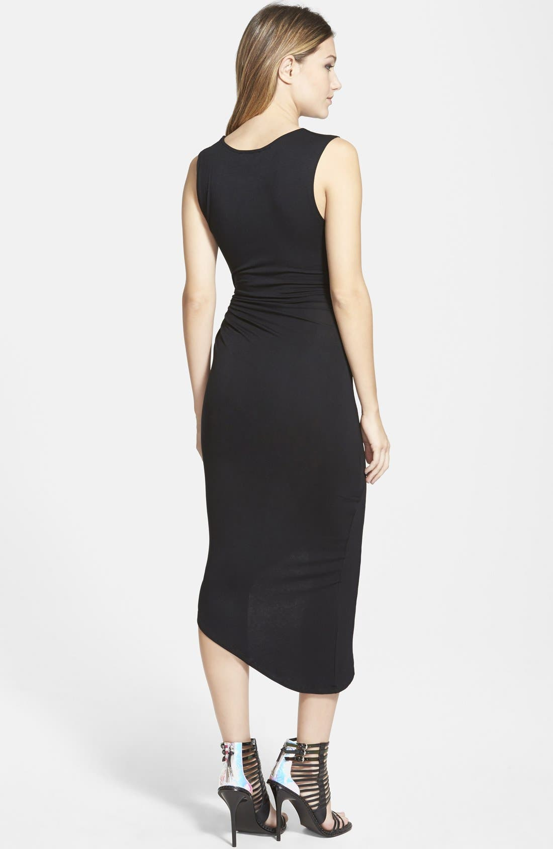 ASTR Knotted Body-Con Dress,                             Alternate thumbnail 2, color,                             001