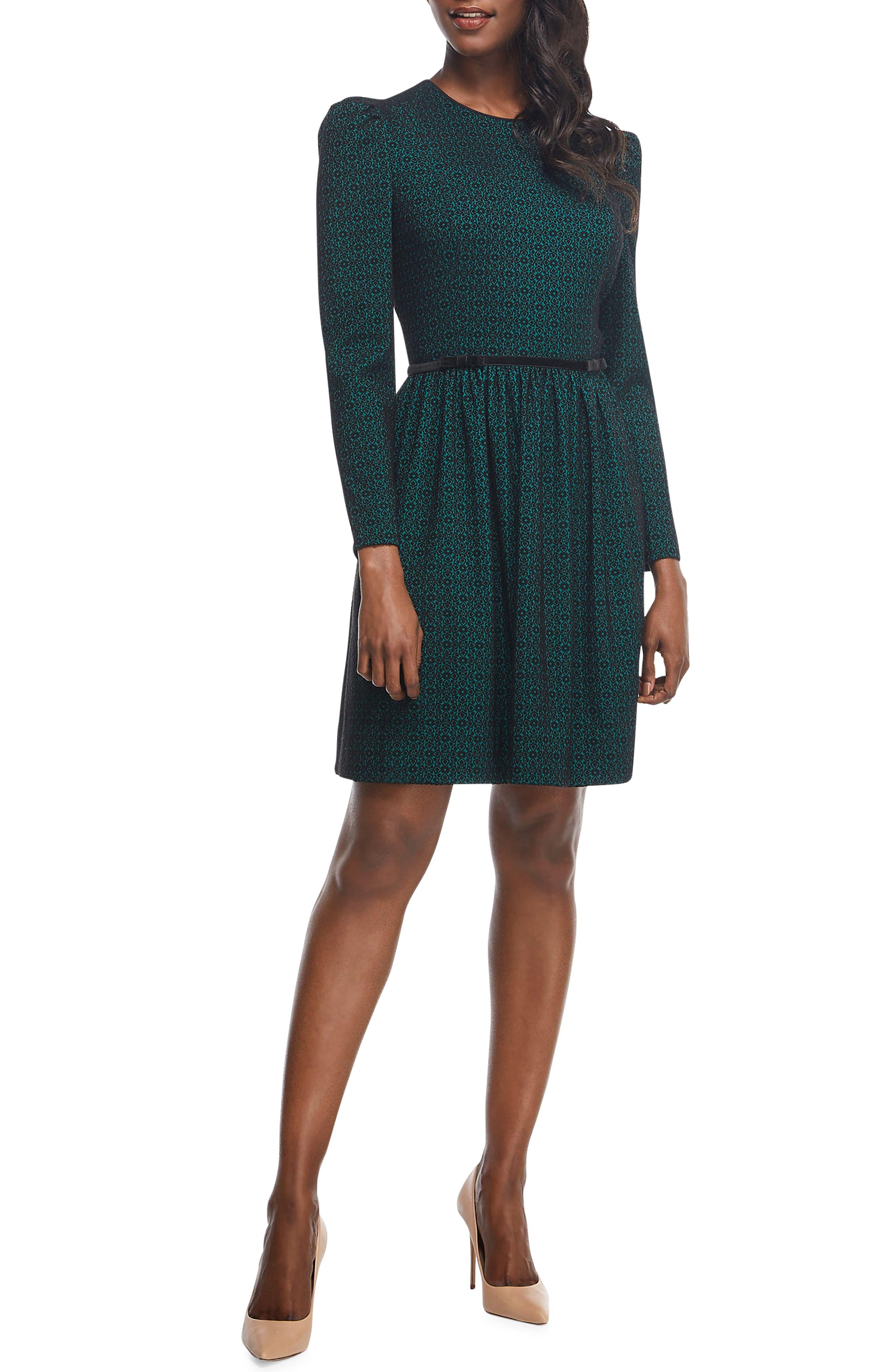Callie Print Long Sleeve Dress, Main, color, 300