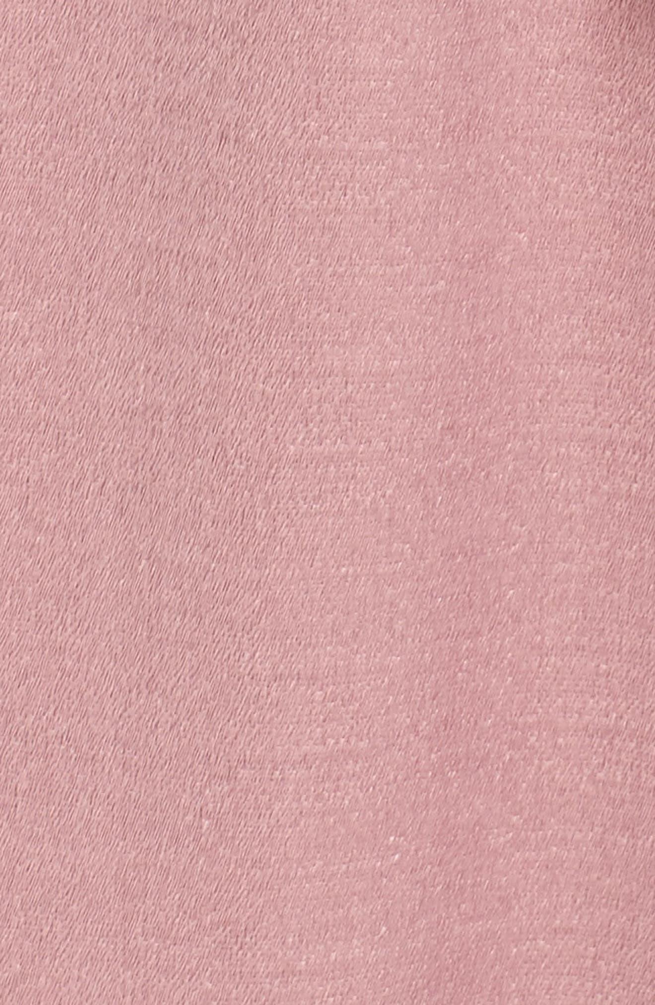 Cold Shoulder A-Line Dress,                             Alternate thumbnail 5, color,