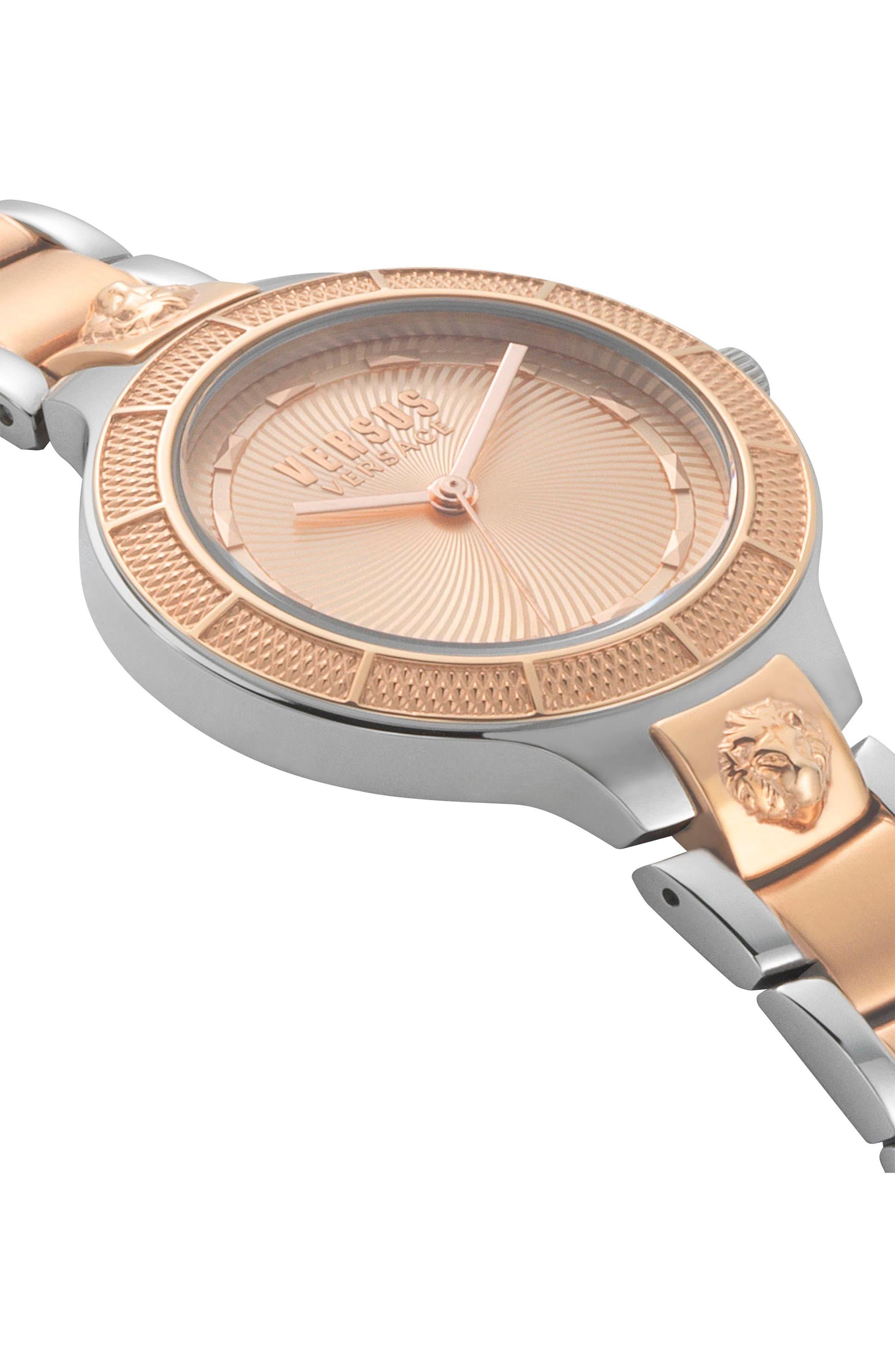 Claremont Bracelet Watch, 32mm,                             Alternate thumbnail 3, color,                             SILVER/ ROSE GOLD