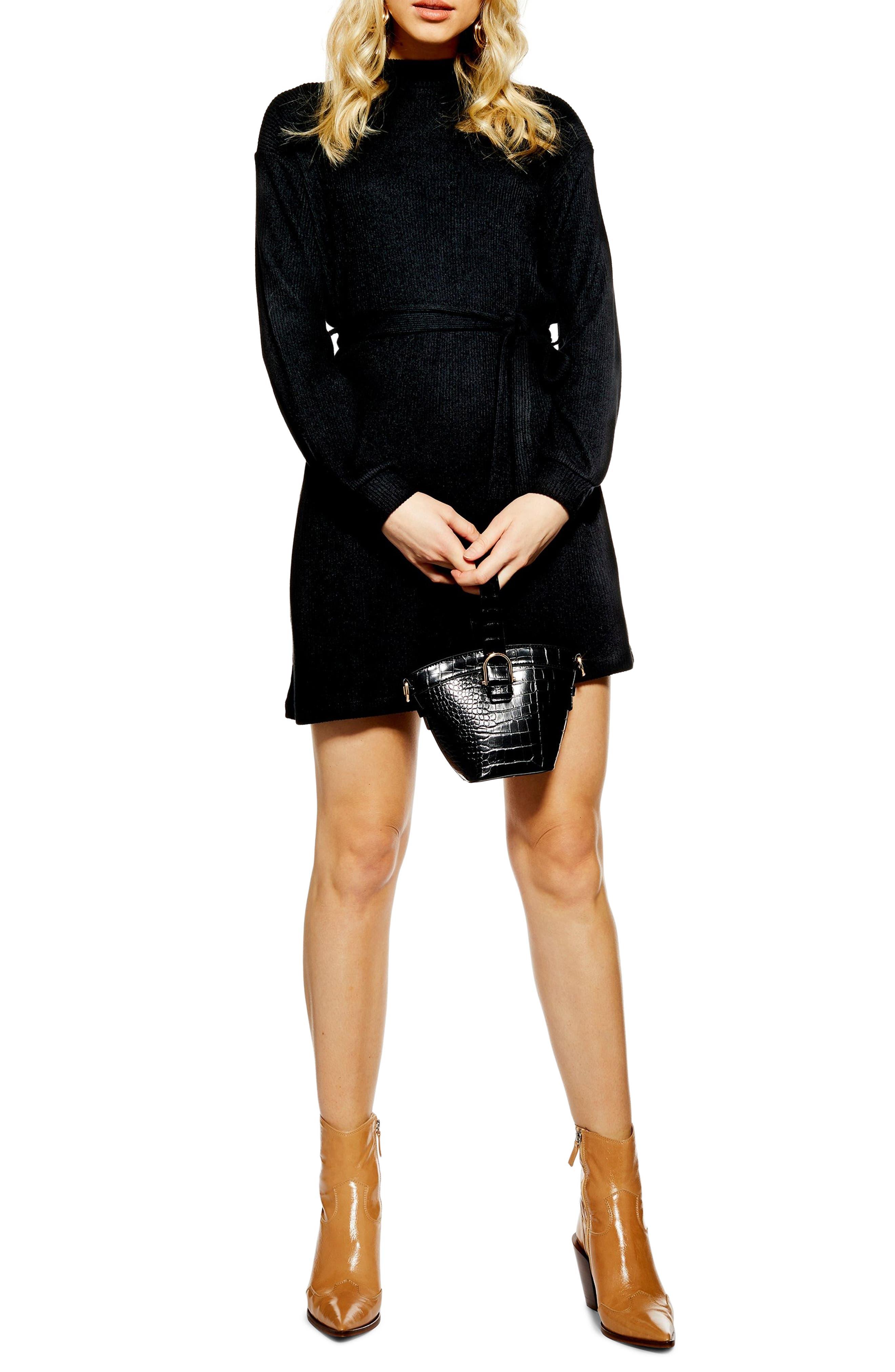 Topshop Belted Minidress, US (fits like 0) - Black